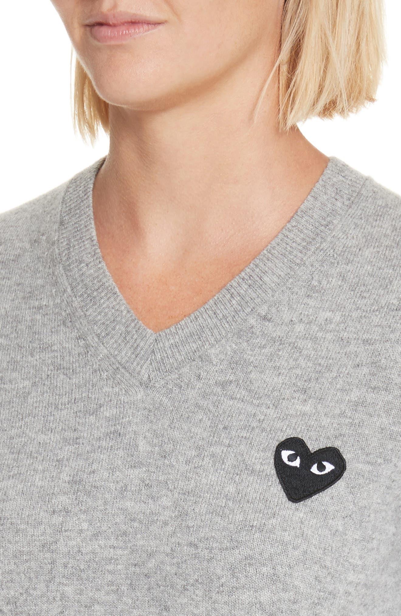 Alternate Image 4  - Comme des Garçons PLAY Heart Wool Pullover