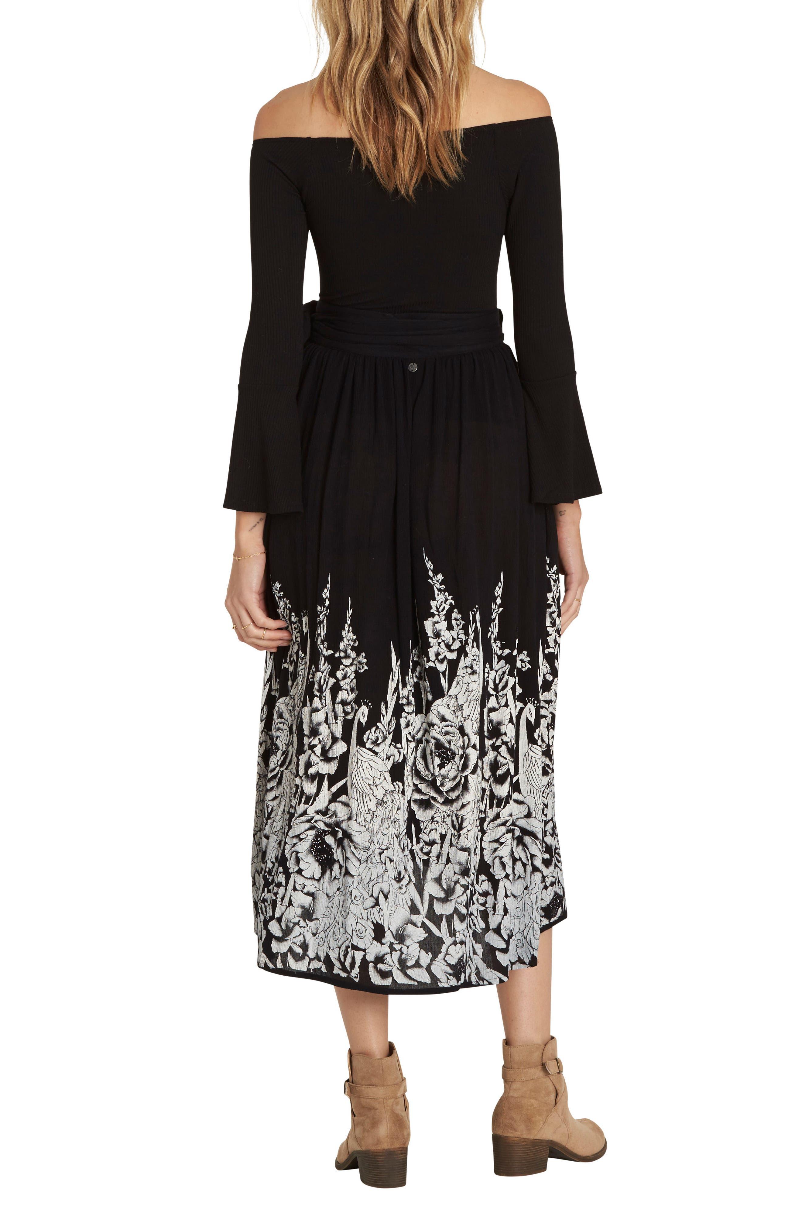 Infinite Midi Skirt,                             Alternate thumbnail 2, color,                             Black