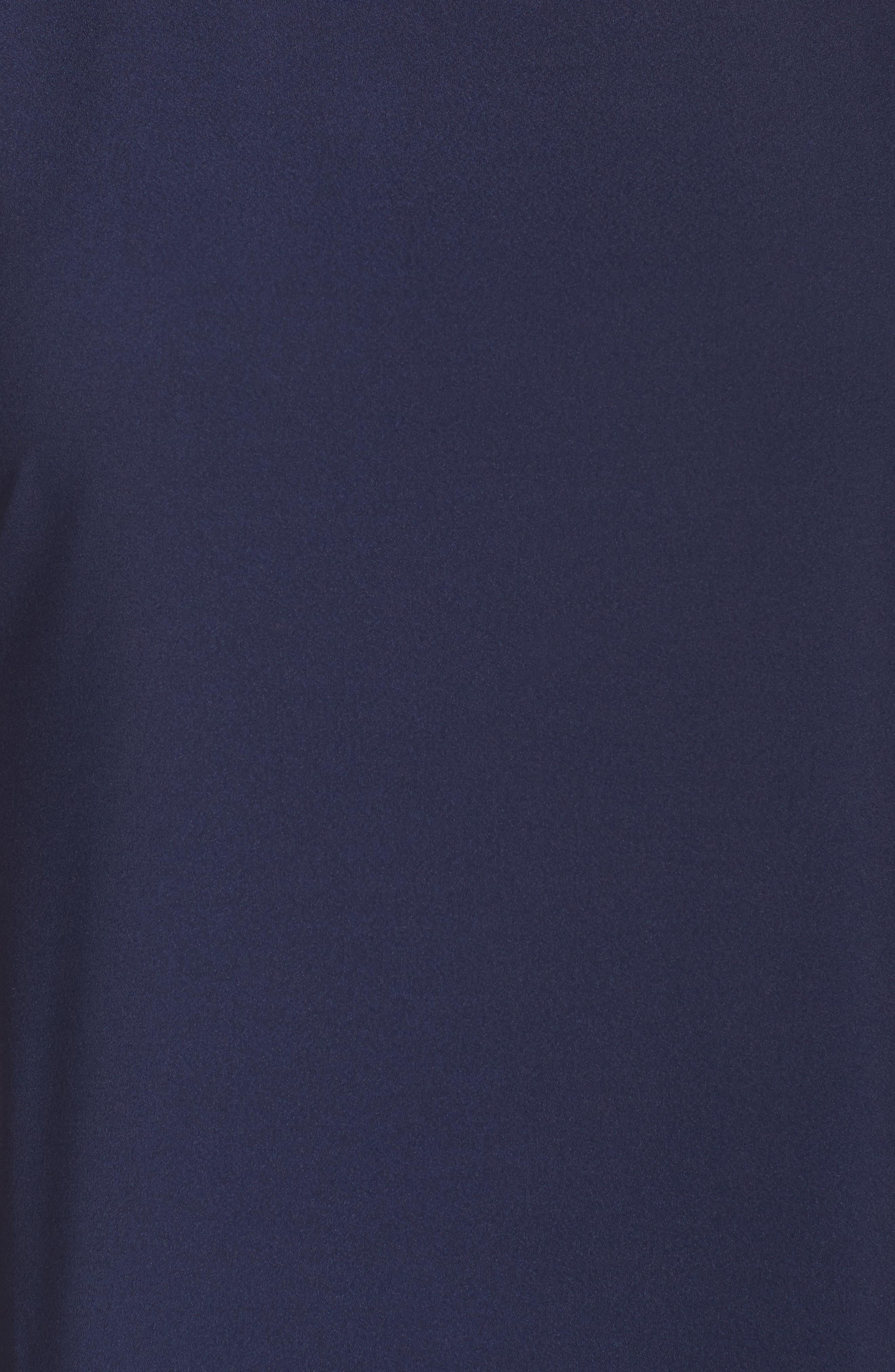 Embellished Slit Sleeve Blouse,                             Alternate thumbnail 5, color,                             Navy Peacoat