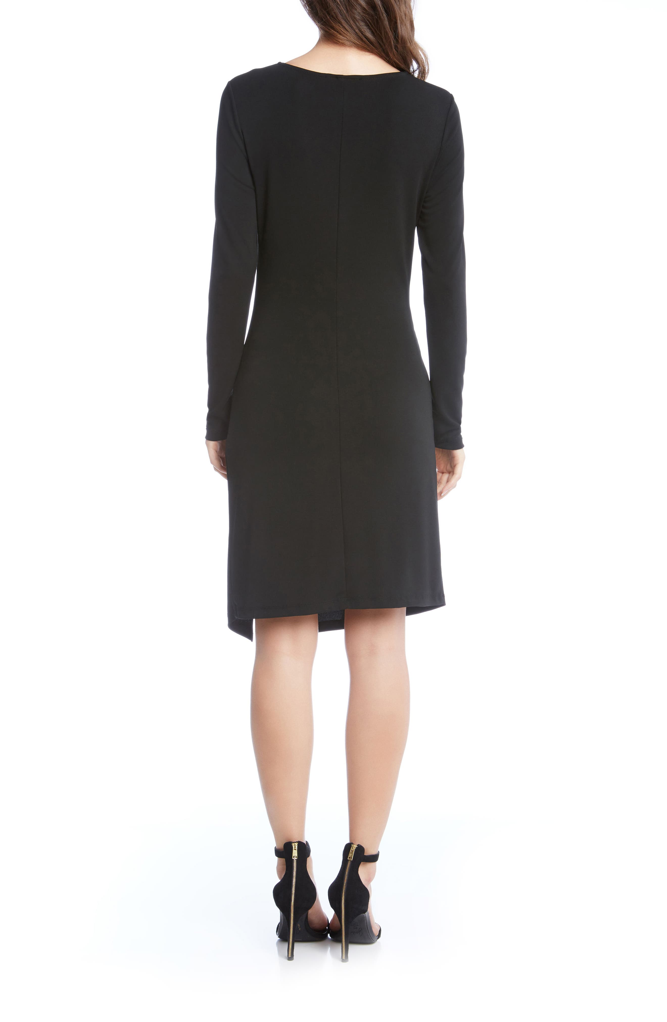 Isabella Side Twist Dress,                             Alternate thumbnail 2, color,                             Black