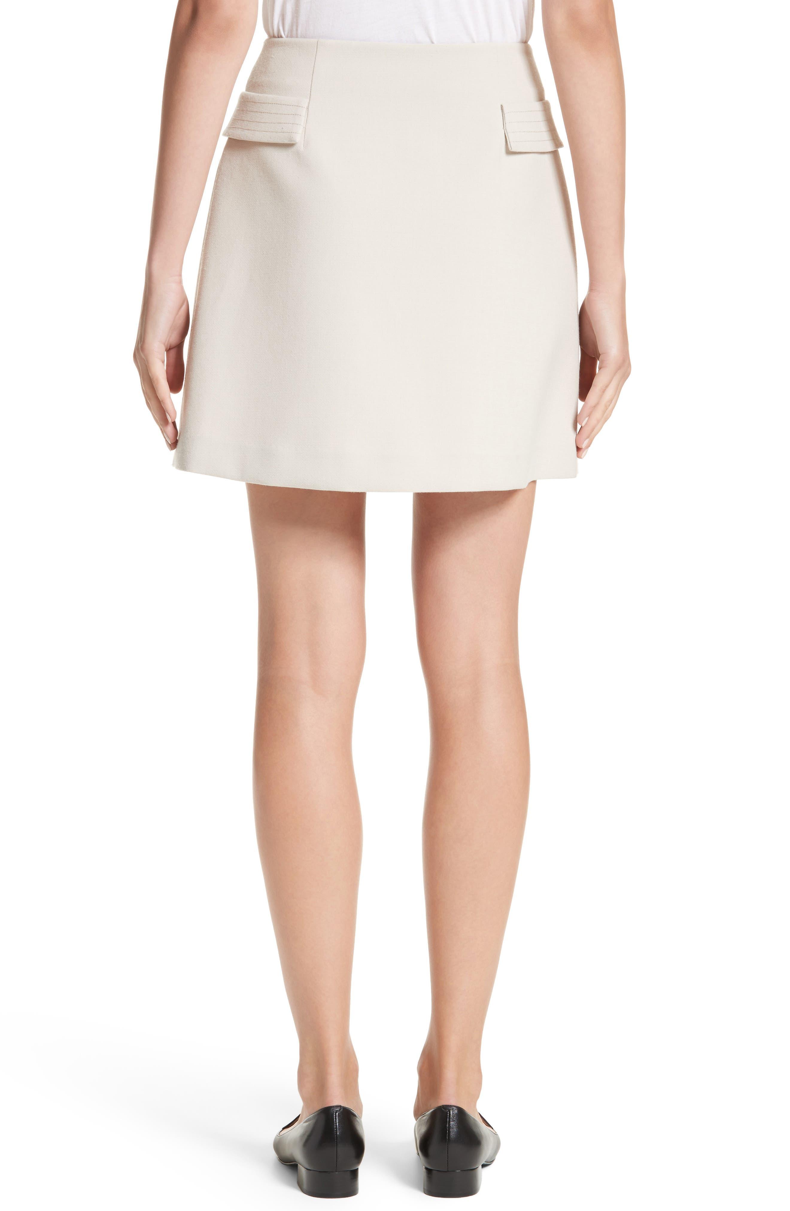 Armani Jeans Crepe Wrap Skirt,                             Alternate thumbnail 2, color,                             Beige
