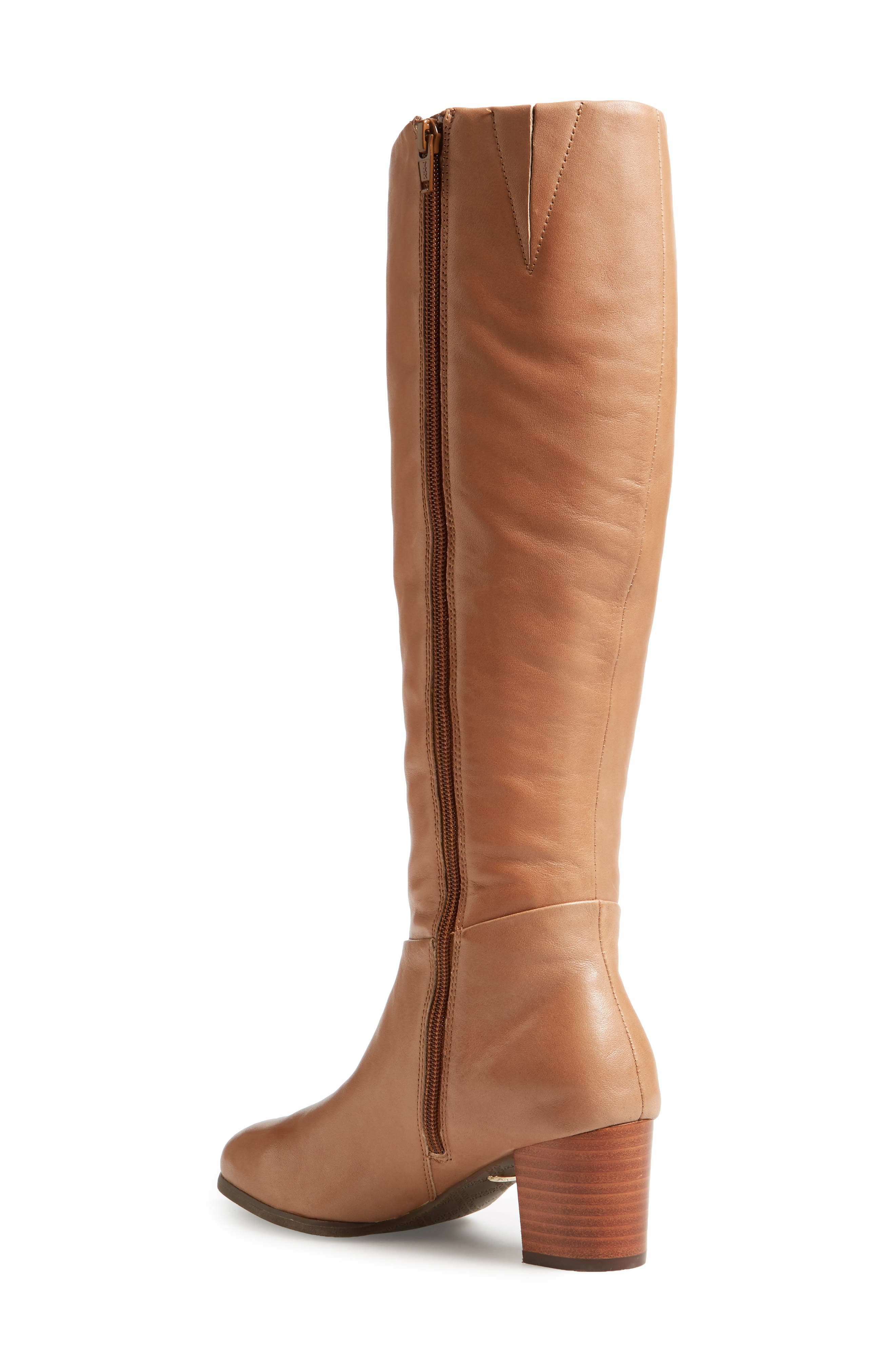Tahlia Boot,                             Alternate thumbnail 2, color,                             Brown Leather