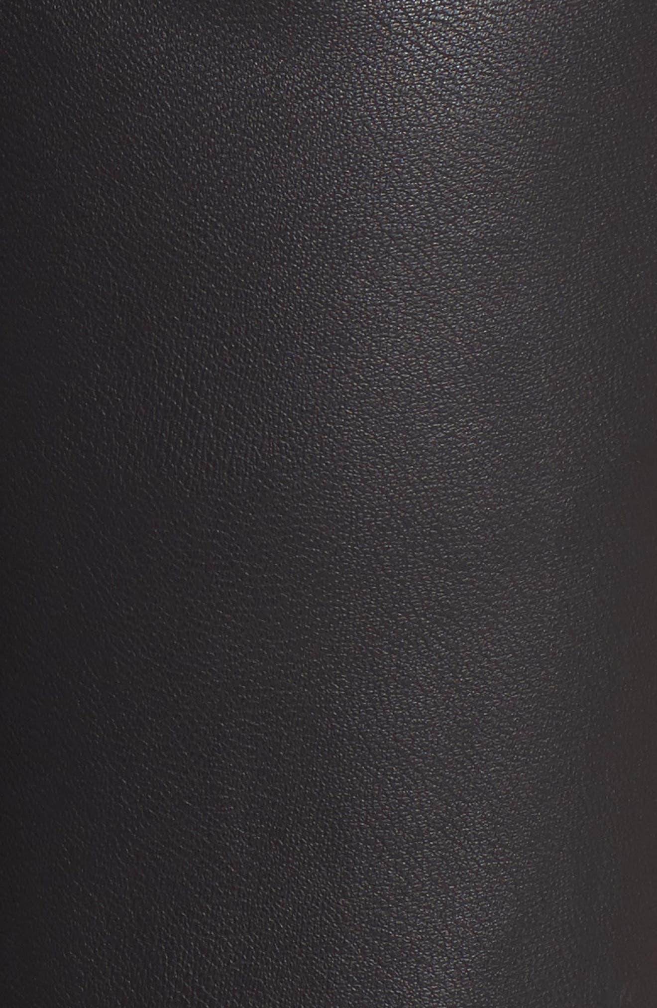 Varick Wide Leg Faux Leather Culottes,                             Alternate thumbnail 5, color,                             Black