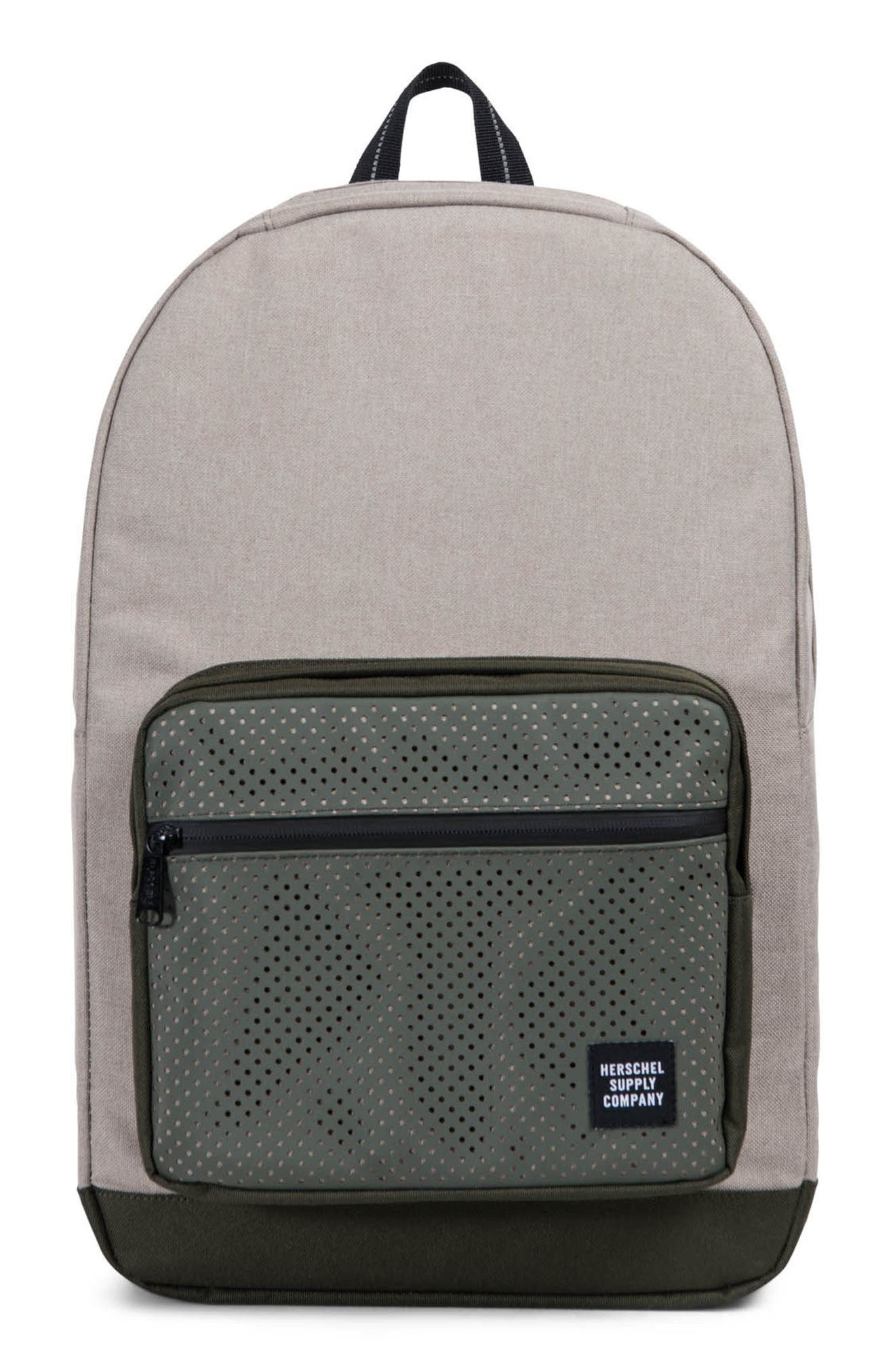 Pop Quiz Aspect Backpack,                             Main thumbnail 1, color,                             Khaki Crosshatch/ Forest Night