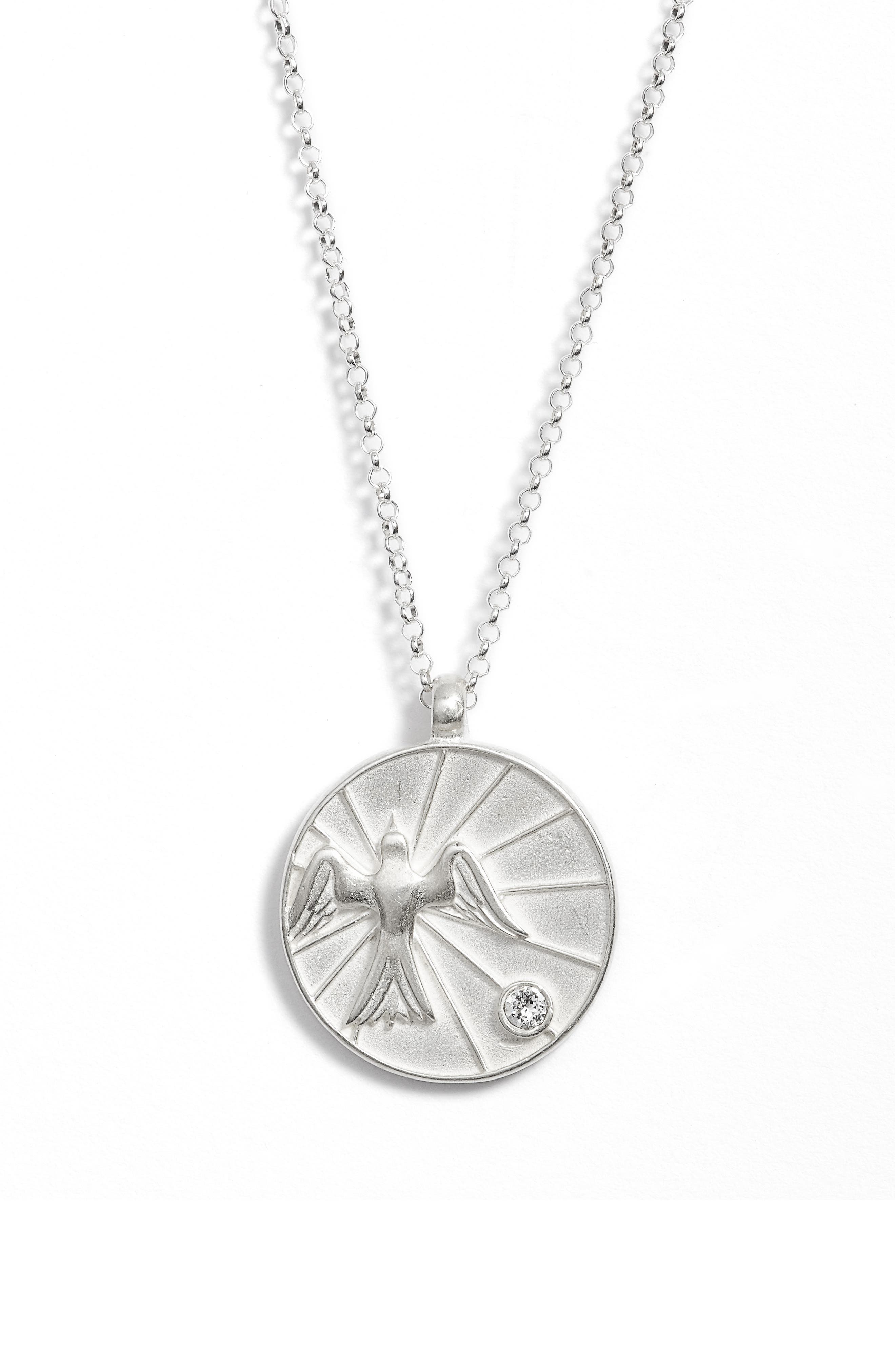The Legacy Collection - Peace, My Brother Pendant Necklace,                             Alternate thumbnail 3, color,                             Silver