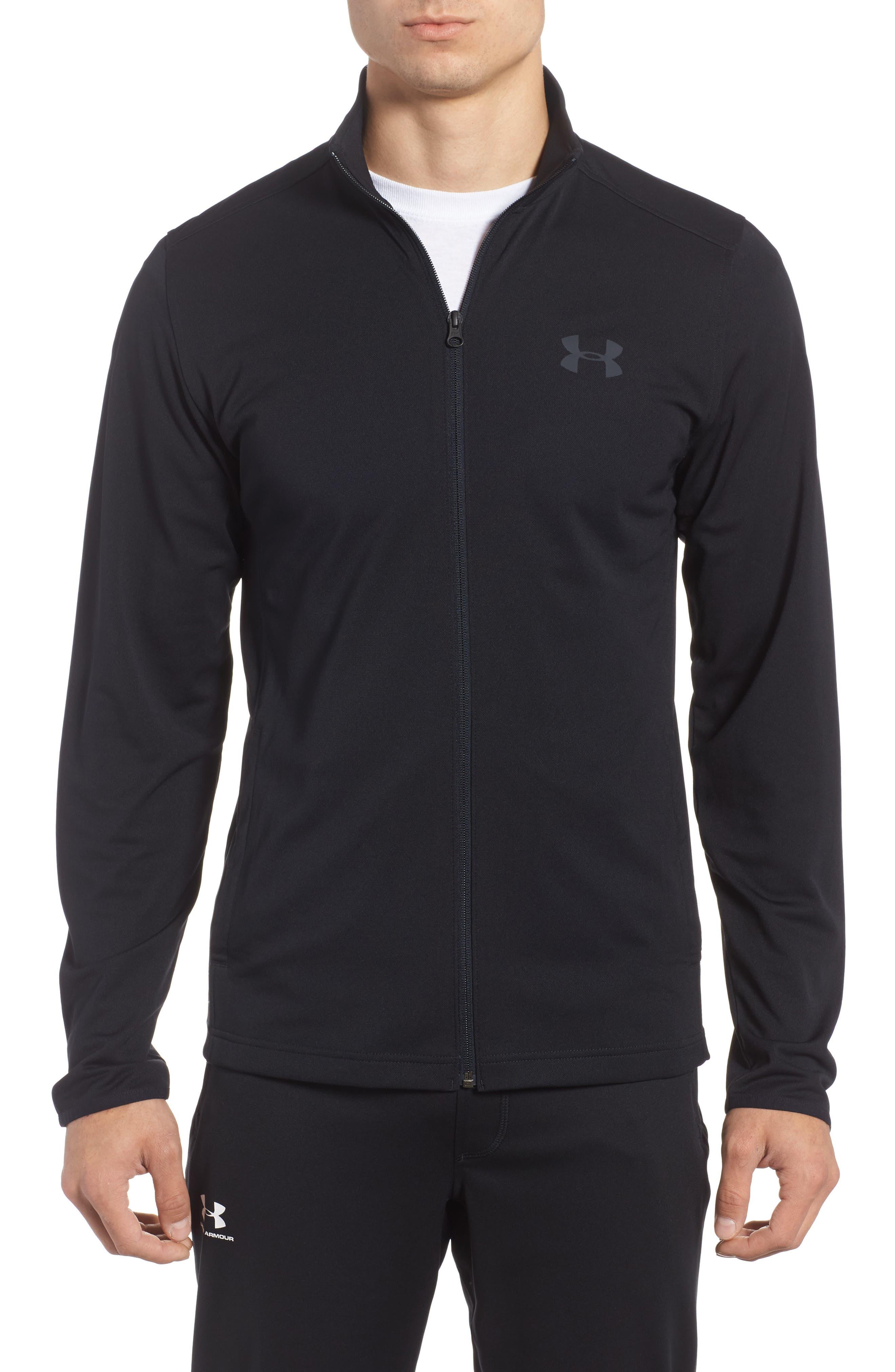 HeatGear<sup>®</sup> Regular Fit Maverick Jacket,                         Main,                         color, Black / Black / Stealth Grey