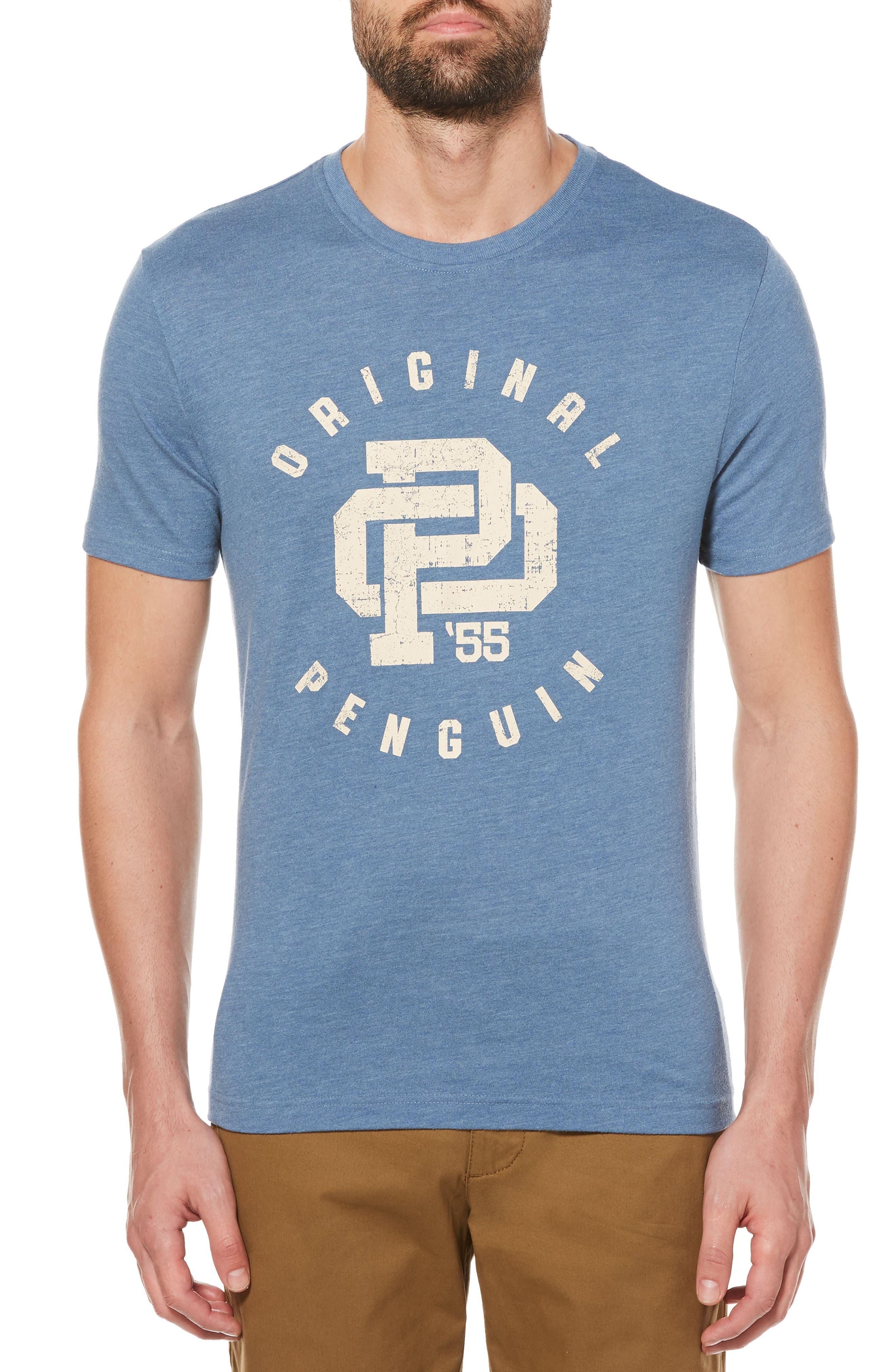 Initial T-Shirt,                             Main thumbnail 1, color,                             China Blue