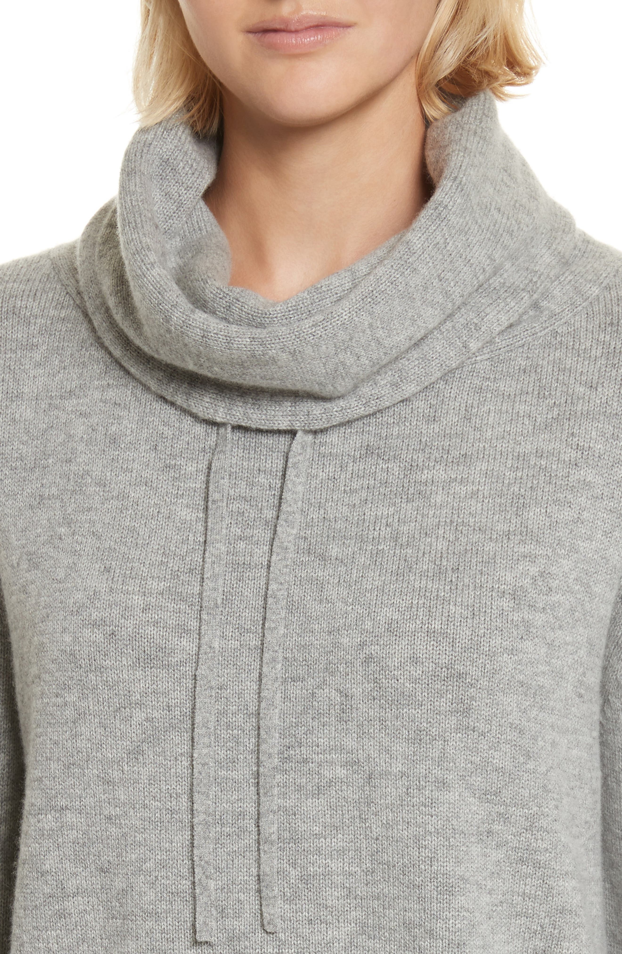 Archie Funnel Neck Wool & Cashmere Sweater,                             Alternate thumbnail 4, color,                             Husky