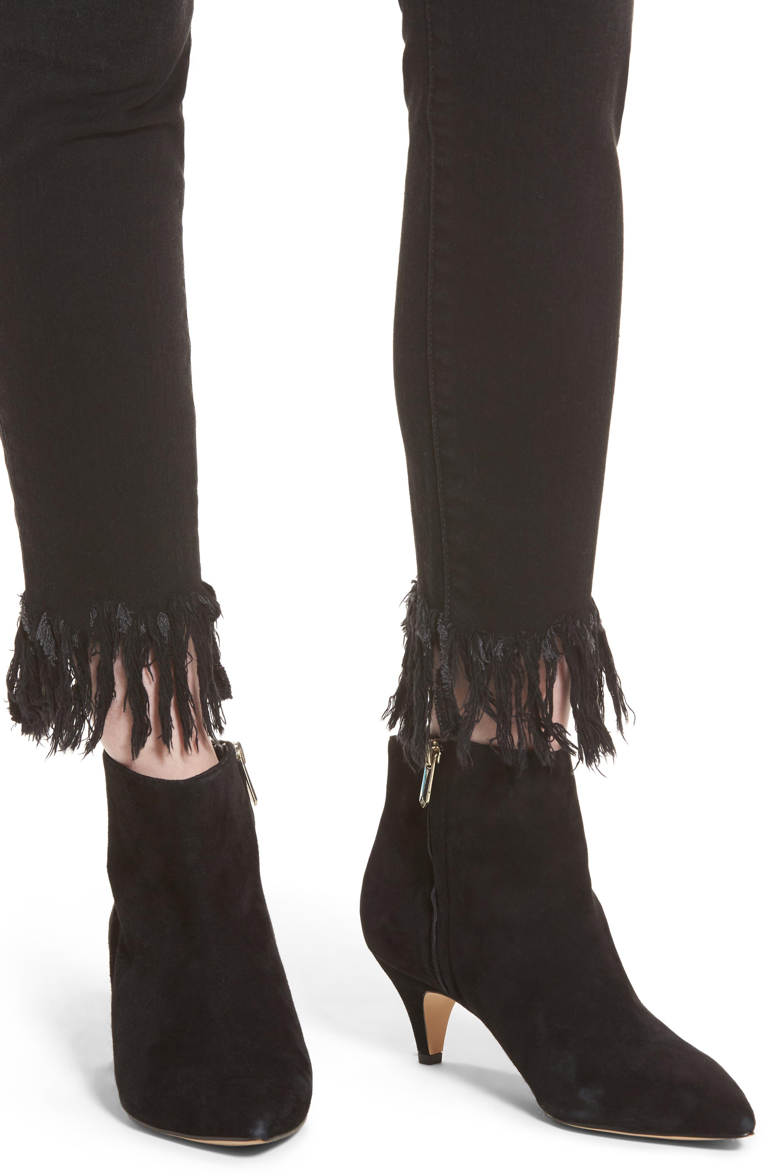 Charlie High Waist Ankle Skinny Jeans,                             Alternate thumbnail 4, color,                             Shellie