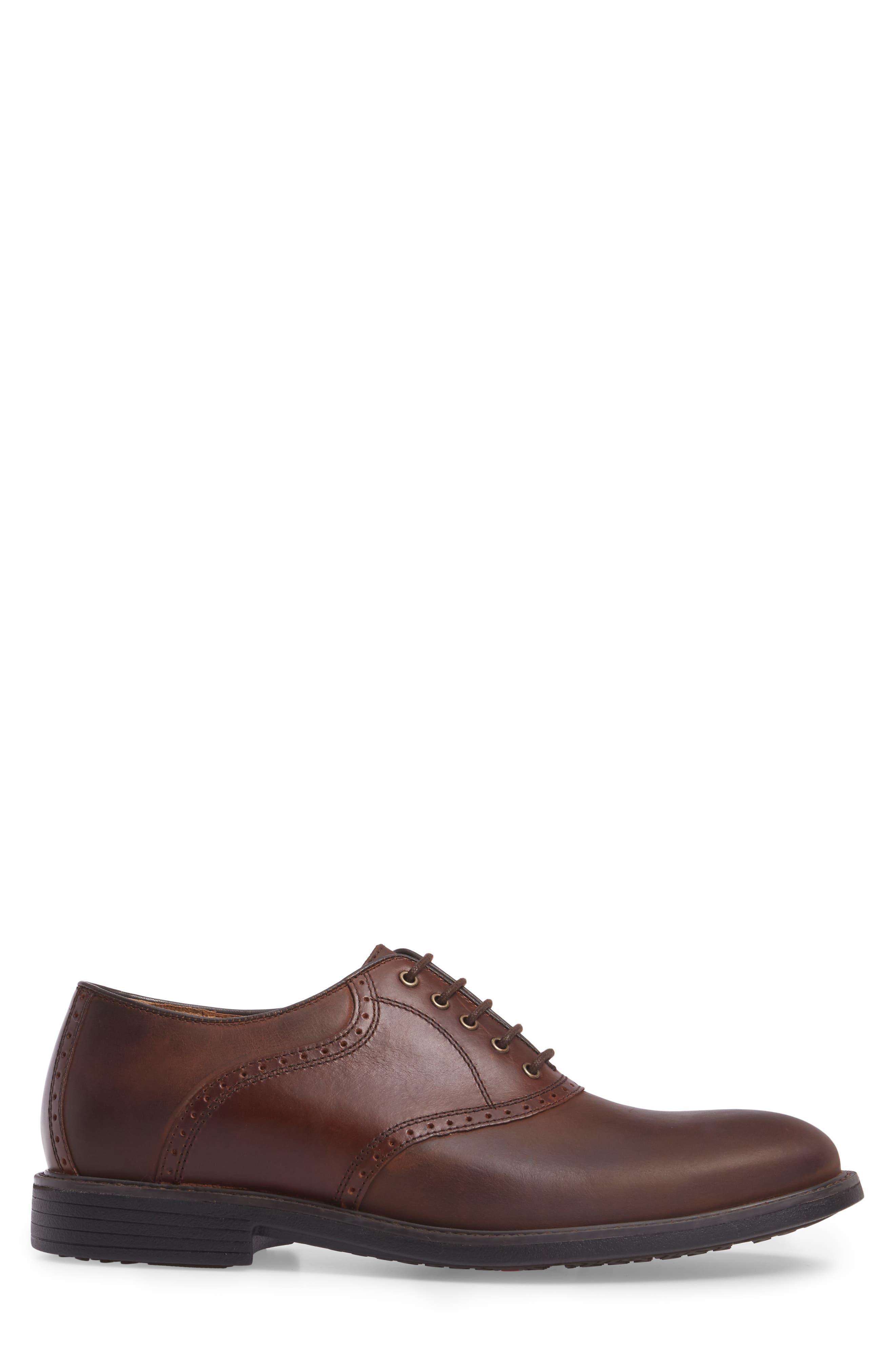 Hollis Waterproof Plain Toe Oxford,                             Alternate thumbnail 3, color,                             Brown