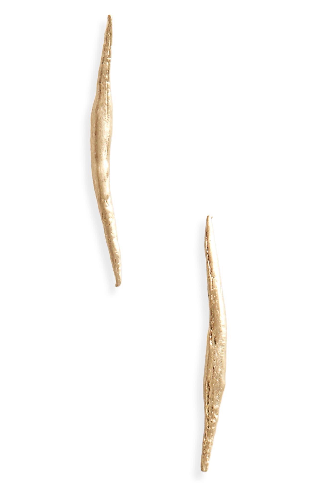 Stick Wisp Earrings,                         Main,                         color, 10K Yellow Gold