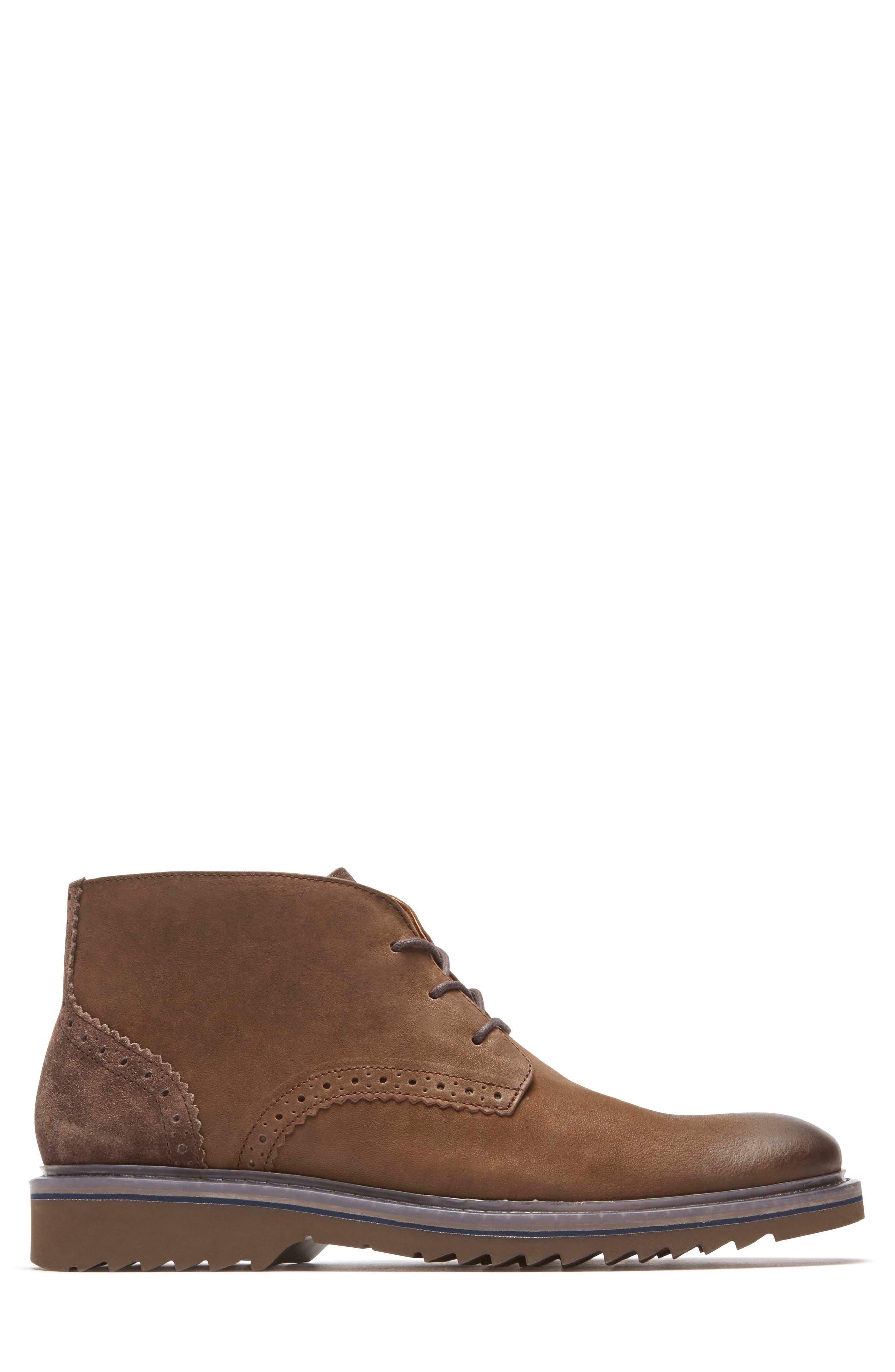 Jaxson Chukka Boot,                             Alternate thumbnail 3, color,                             Brown/ Brown Leather