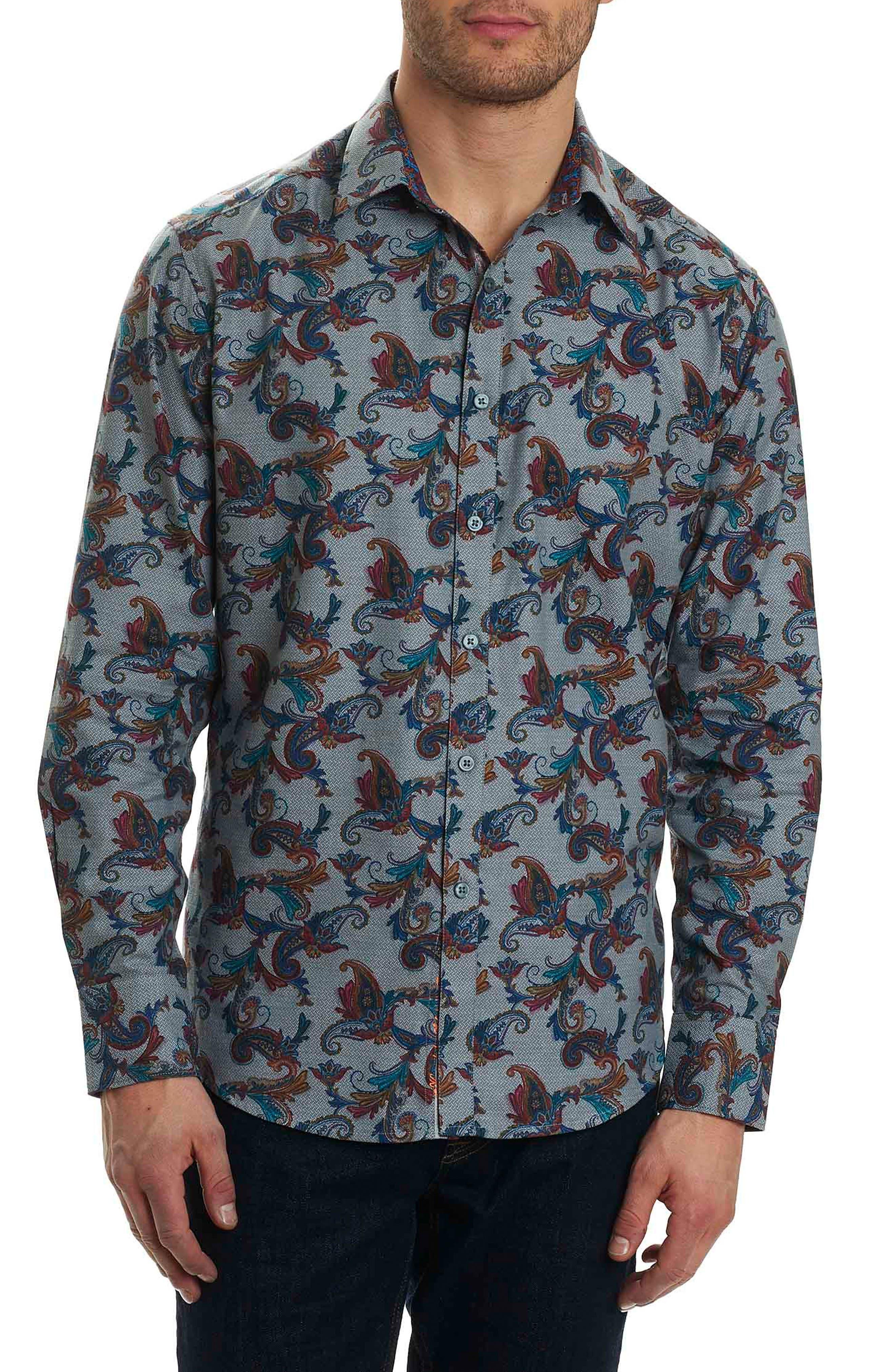 Alternate Image 1 Selected - Robert Graham Massif Print Sport Shirt