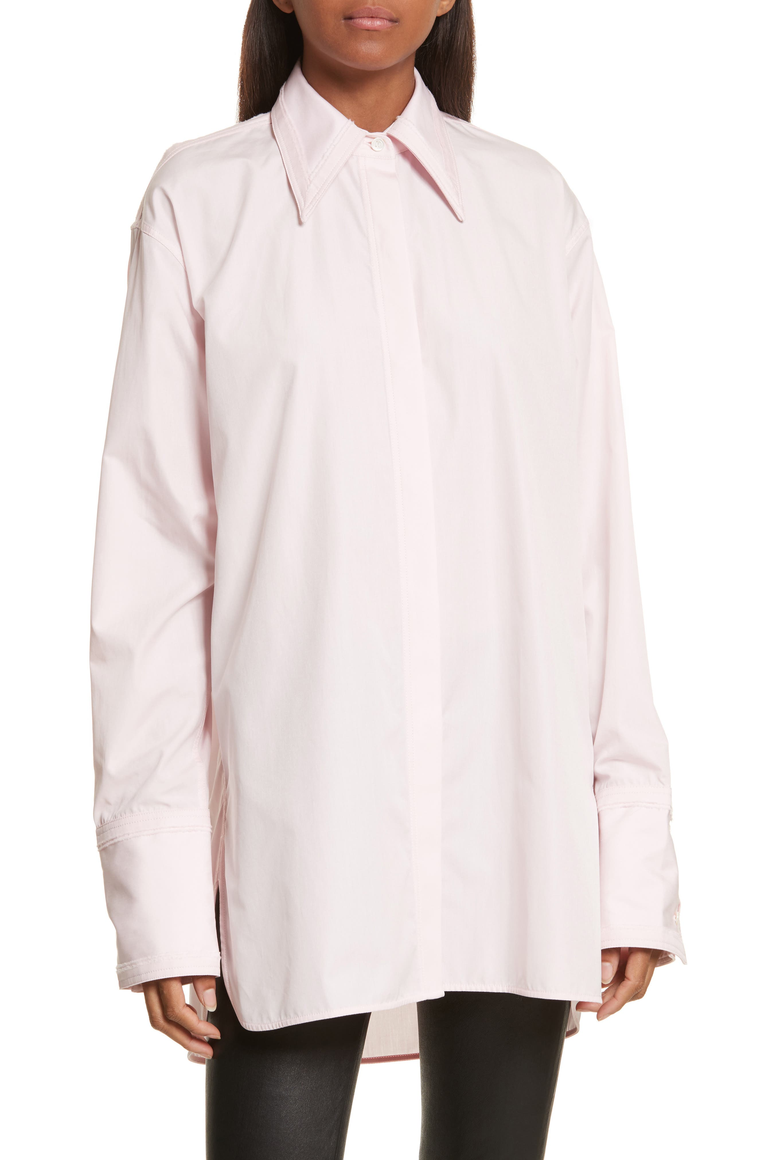 Alternate Image 1 Selected - Helmut Lang Cutout Cotton Poplin Shirt