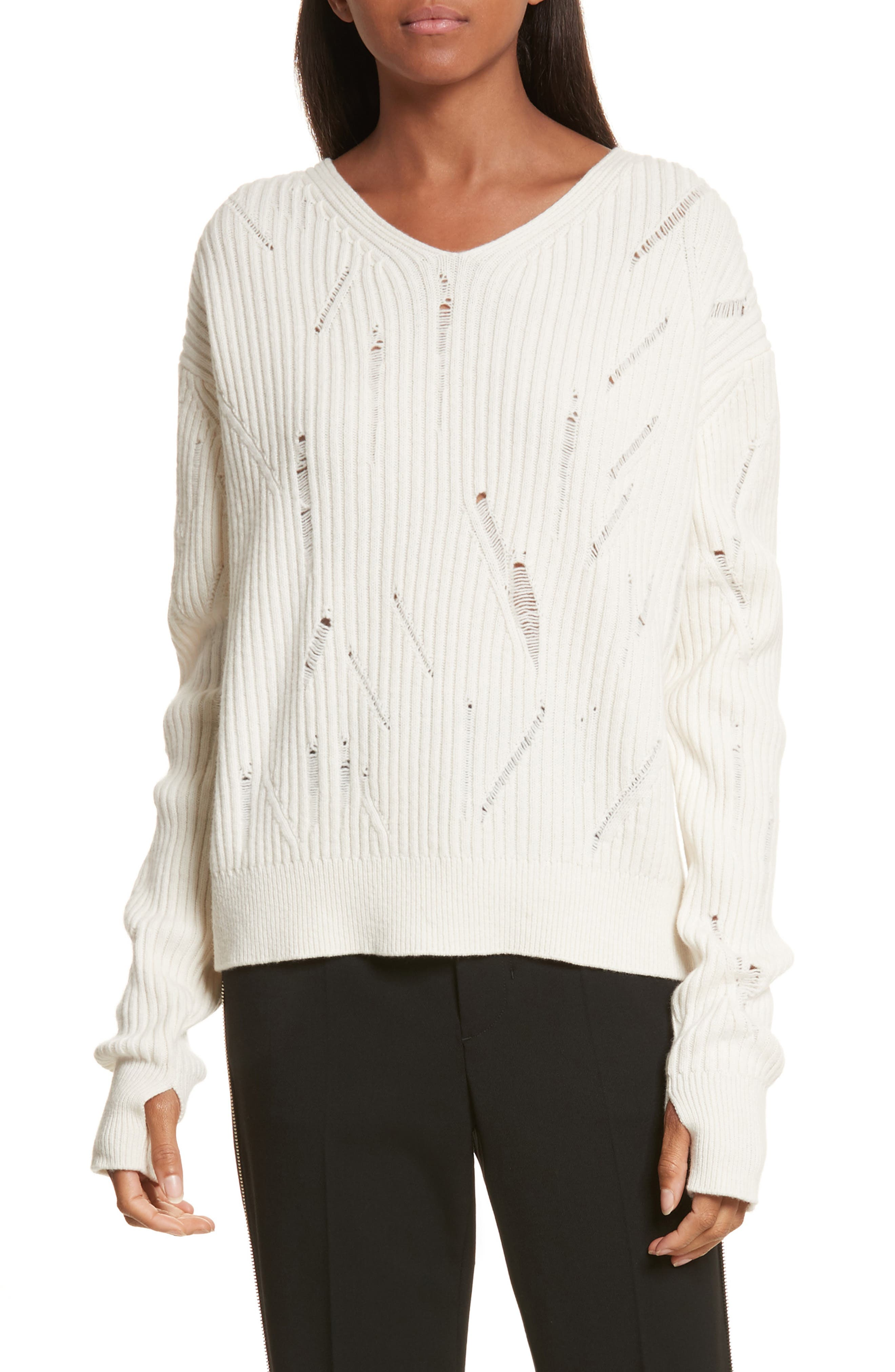 Helmut Lang Drop Needle Lambswool Sweater