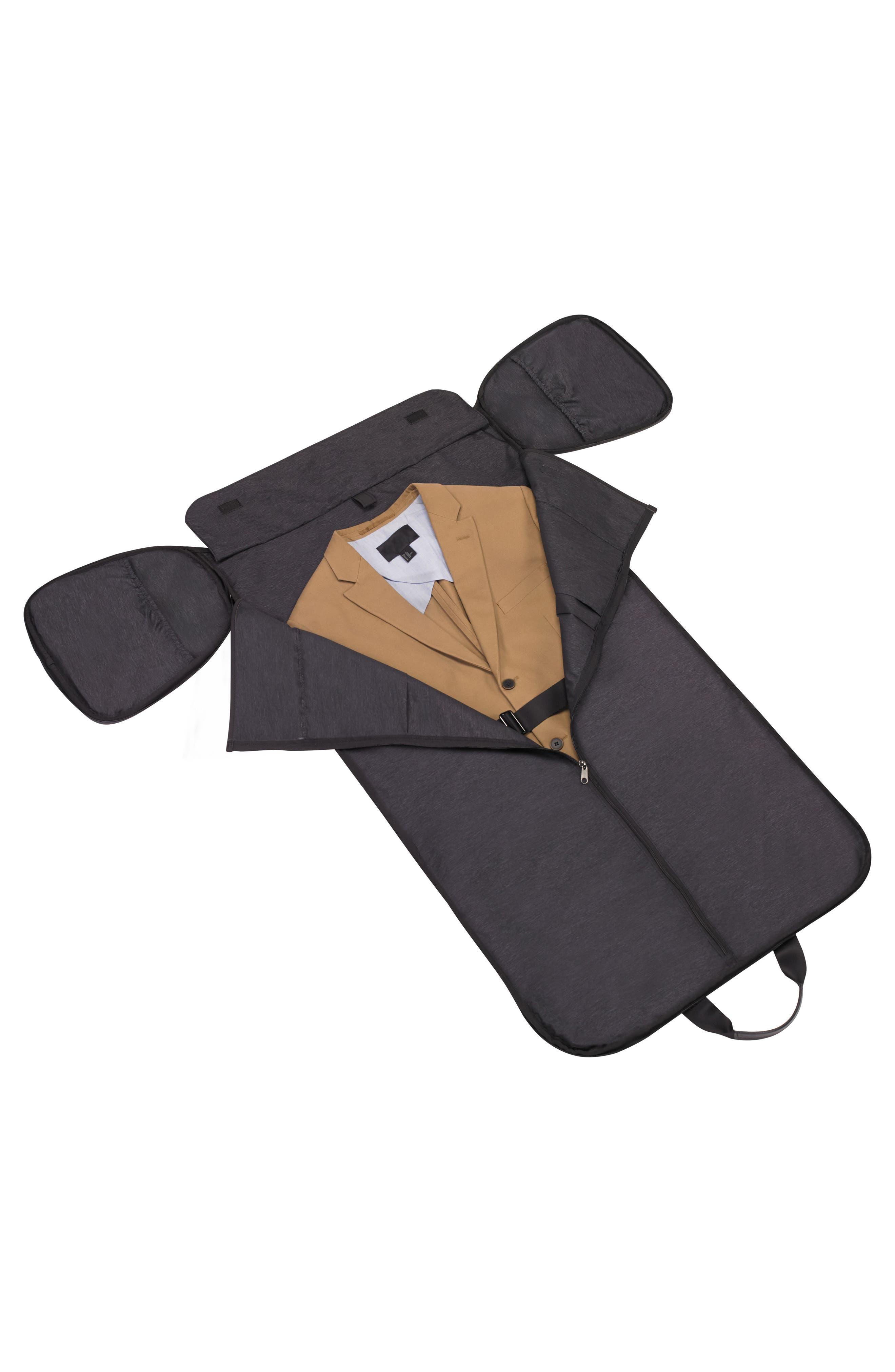 Canvas Garment Duffel Bag,                             Alternate thumbnail 5, color,                             Black