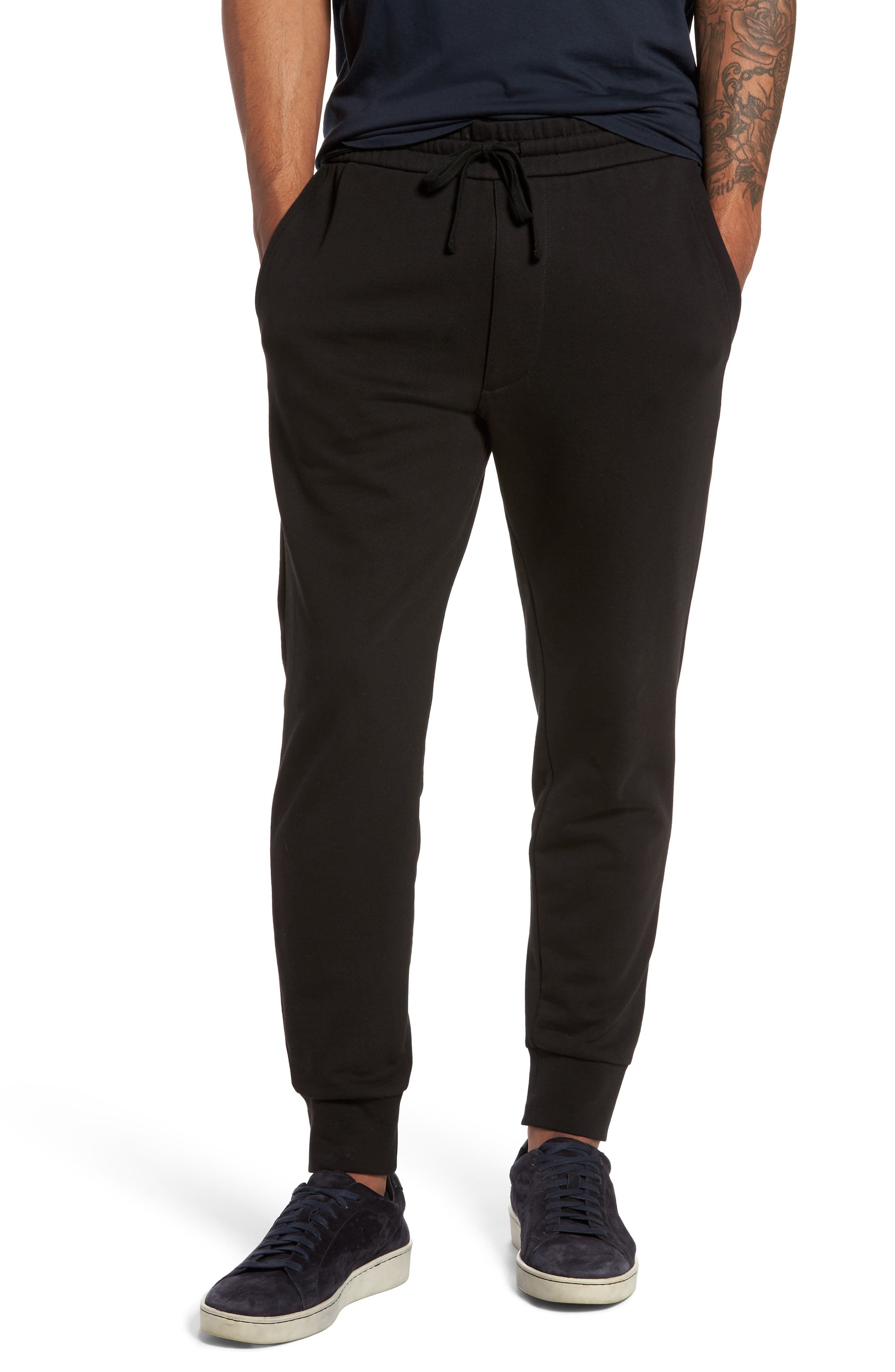 Cotton Sweatpants,                             Main thumbnail 1, color,                             Black