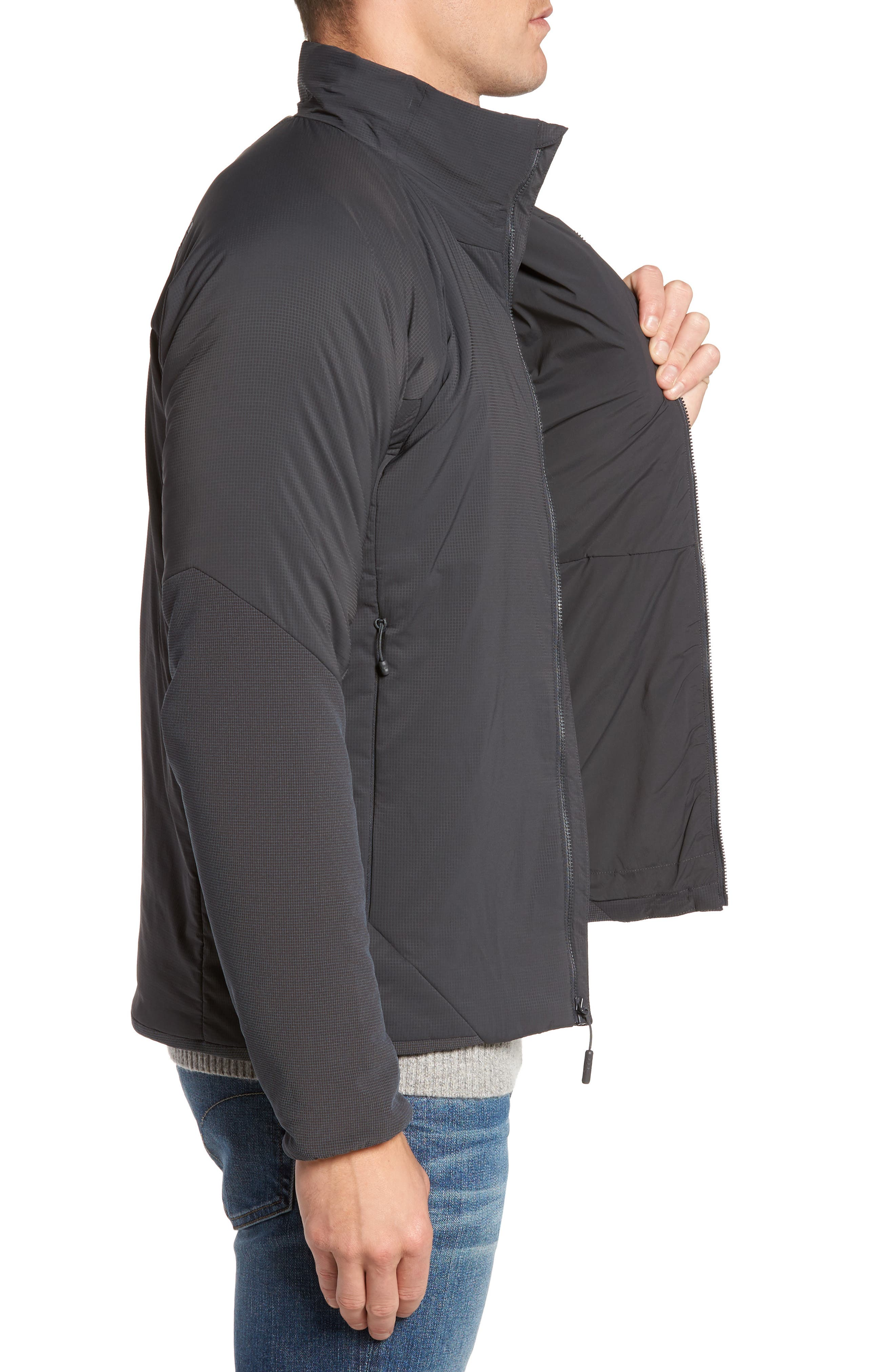 Ventrix Water Resistant Ripstop Jacket,                             Alternate thumbnail 3, color,                             Asphalt Grey / Acid Yellow