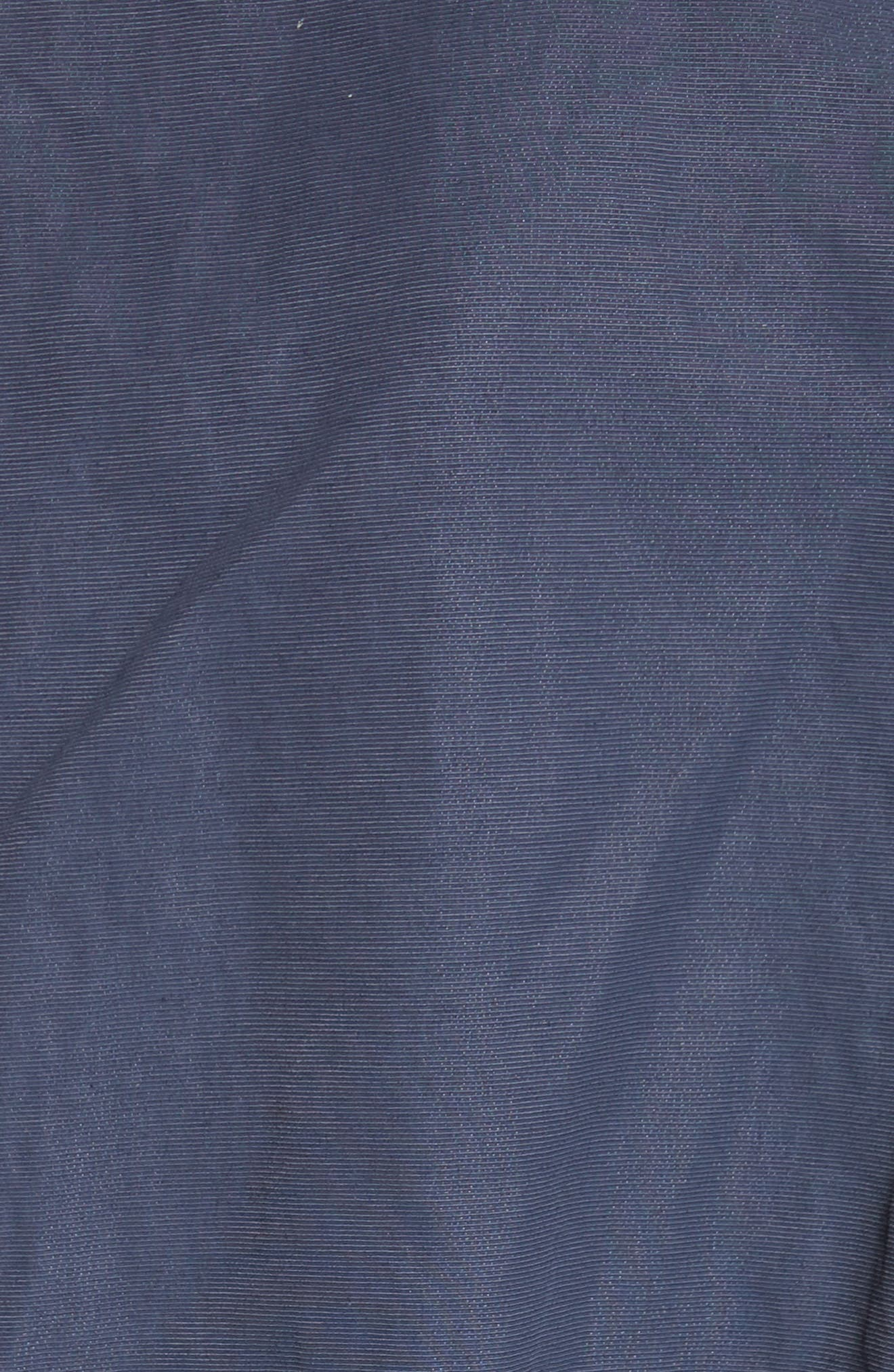 Suede & Cotton Blend Kimono Jacket,                             Alternate thumbnail 6, color,                             Navy