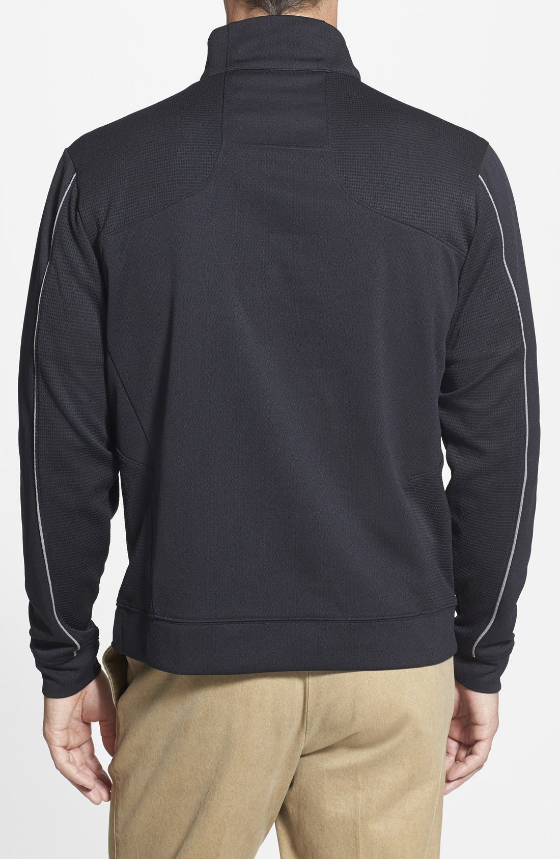Oakland Raiders - Edge DryTec Moisture Wicking Half Zip Pullover,                             Alternate thumbnail 2, color,                             Black