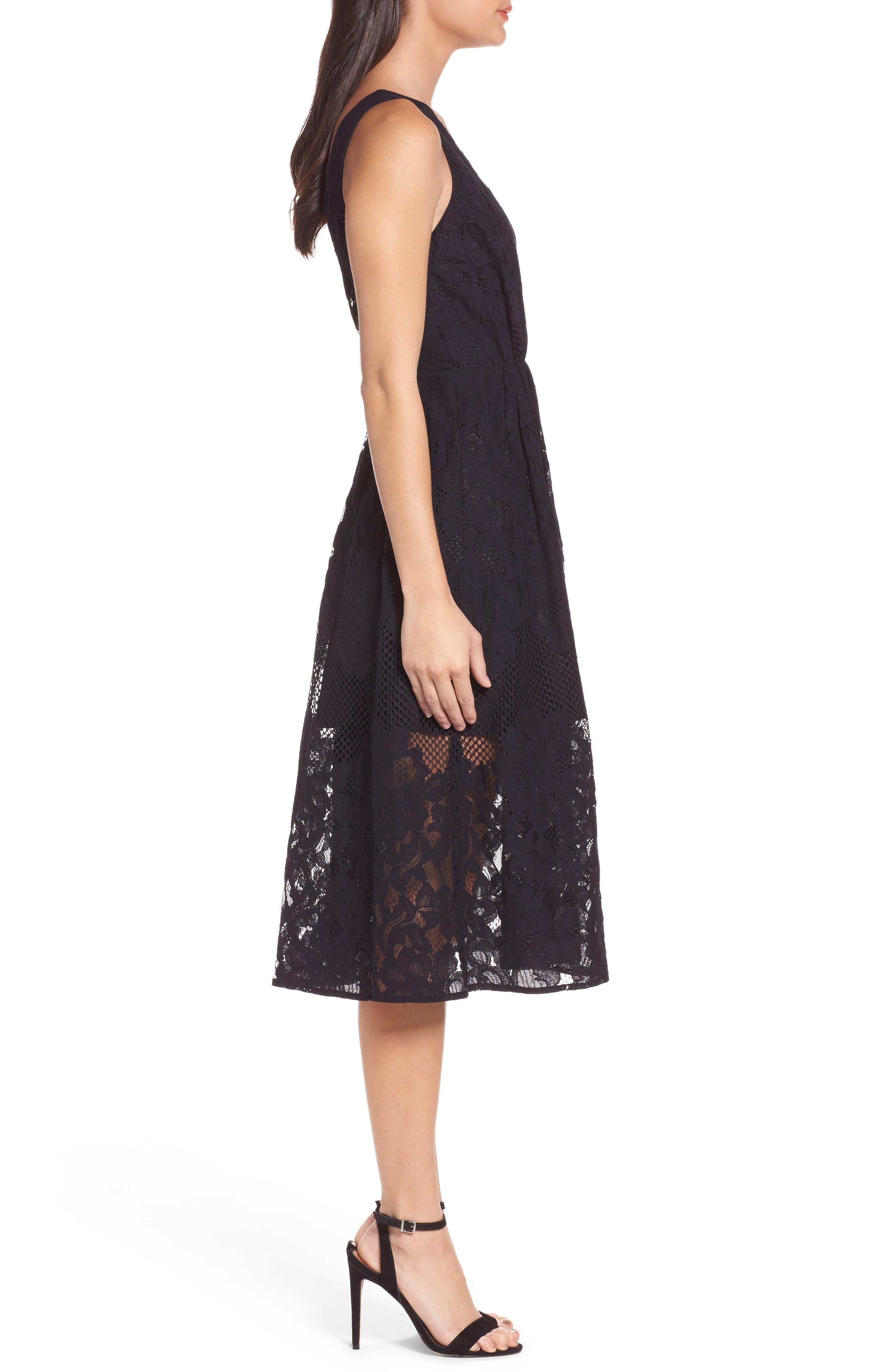 Alternate Image 4  - Ali & Jay Palais Royal Lace A-Line Dress