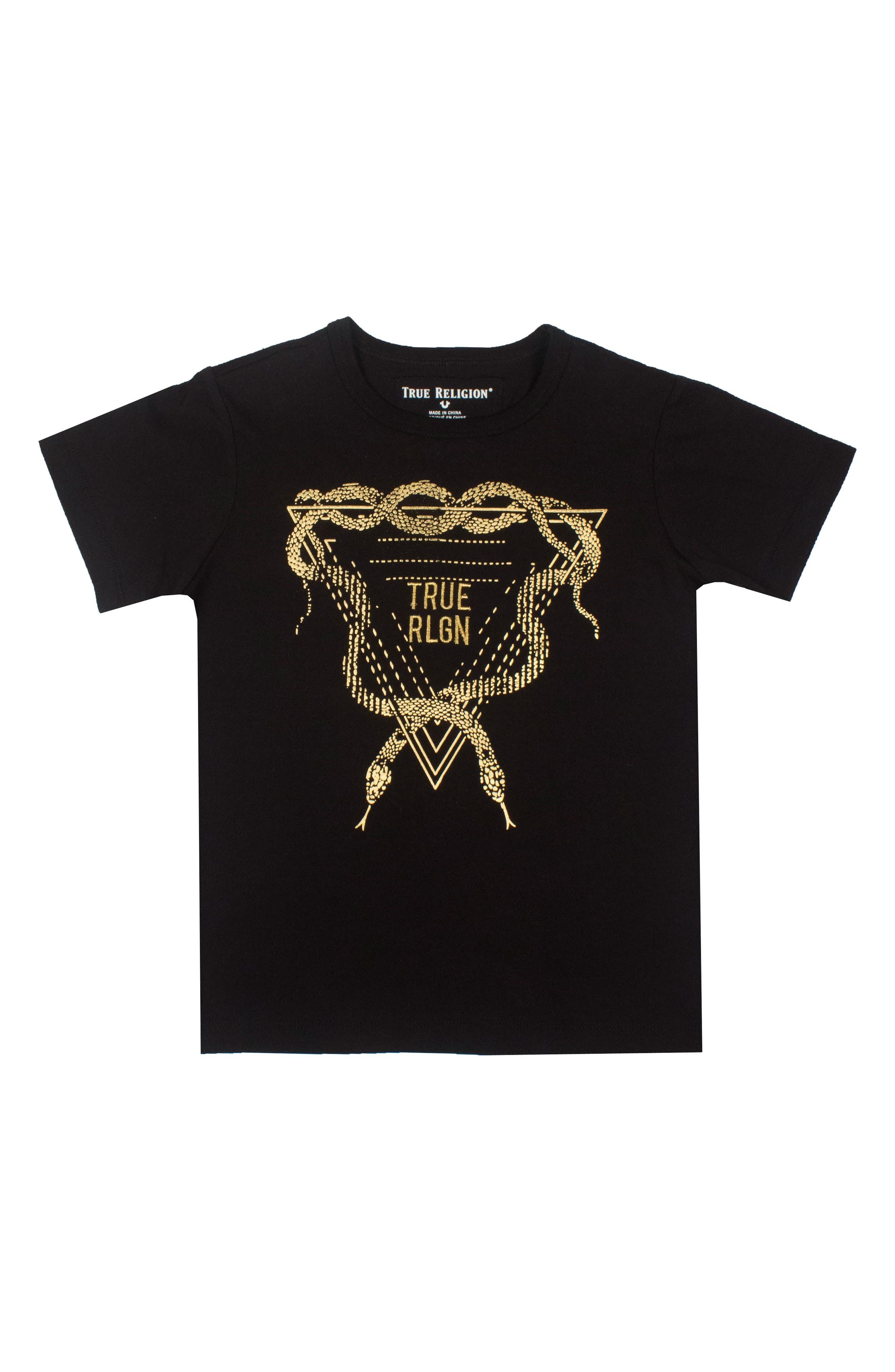True Religion Brand Jeans Metallic Snake Graphic T-Shirt (Big Boys)