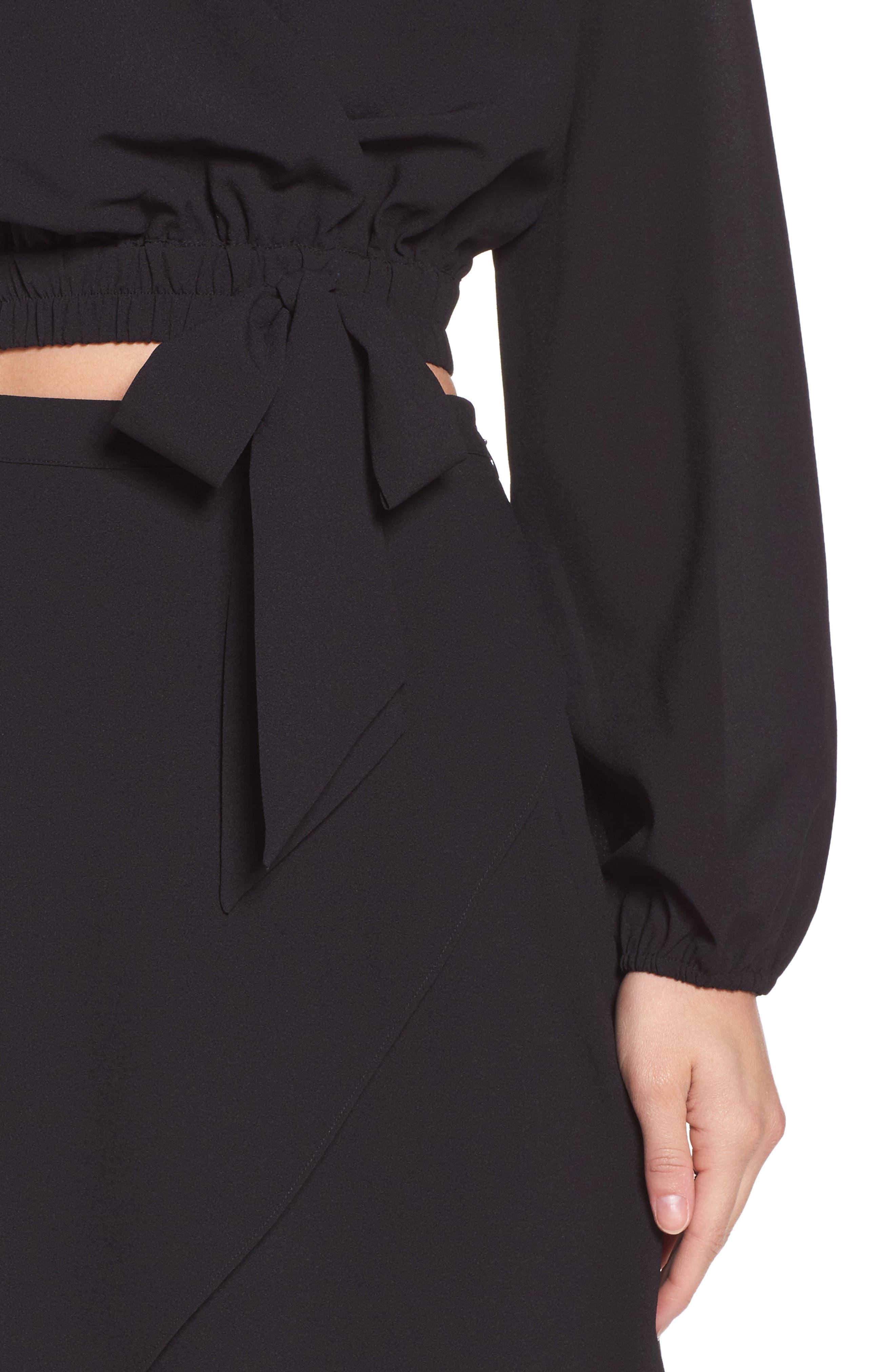 St. Tropez Two-Piece Dress,                             Alternate thumbnail 5, color,                             Black