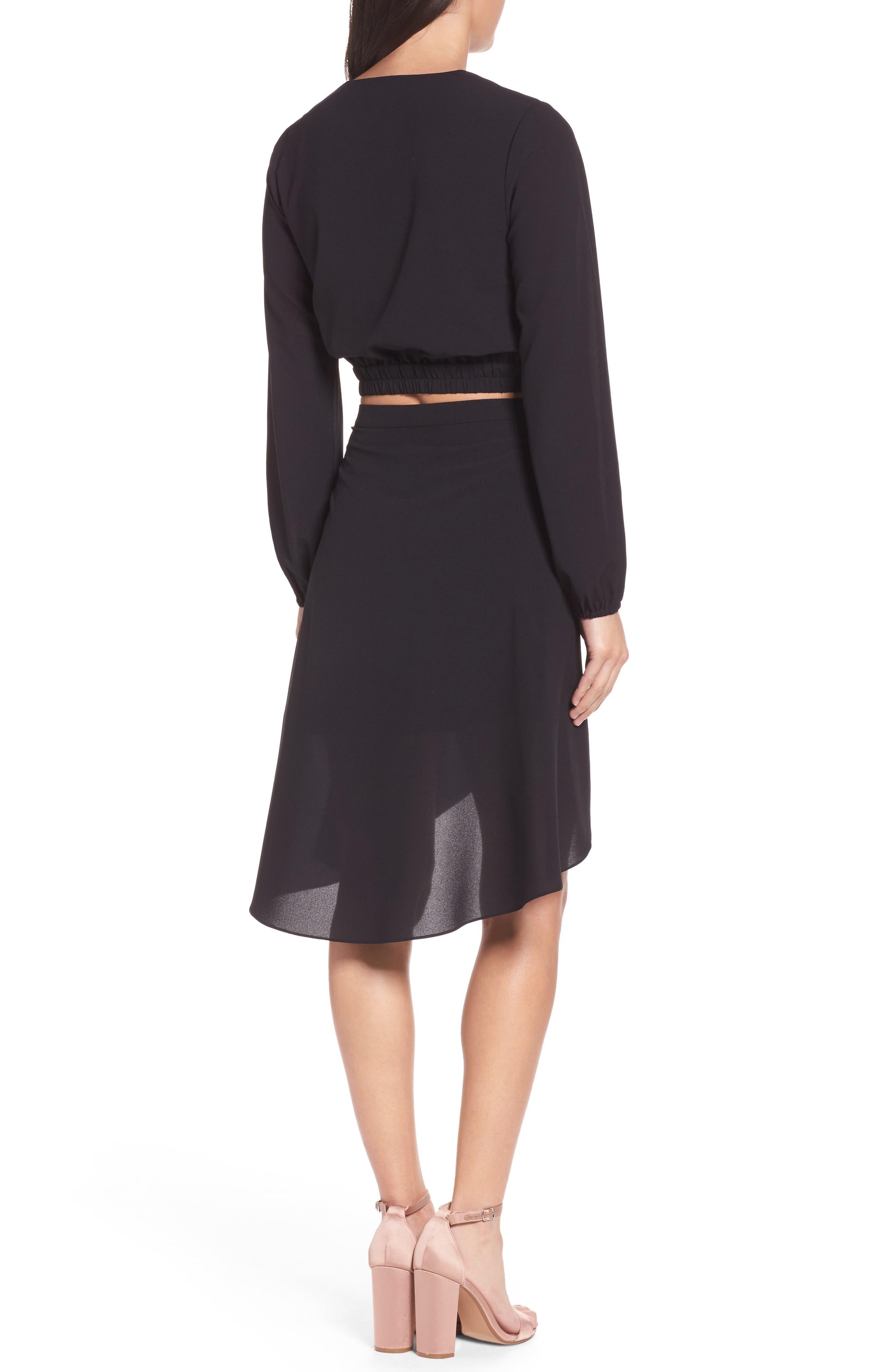 St. Tropez Two-Piece Dress,                             Alternate thumbnail 3, color,                             Black