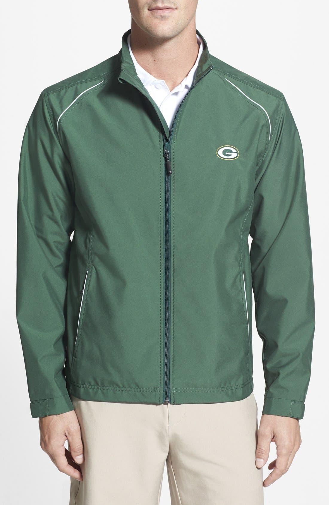 Cutter & Buck Green Bay Packers - Beacon WeatherTec Wind & Water Resistant Jacket