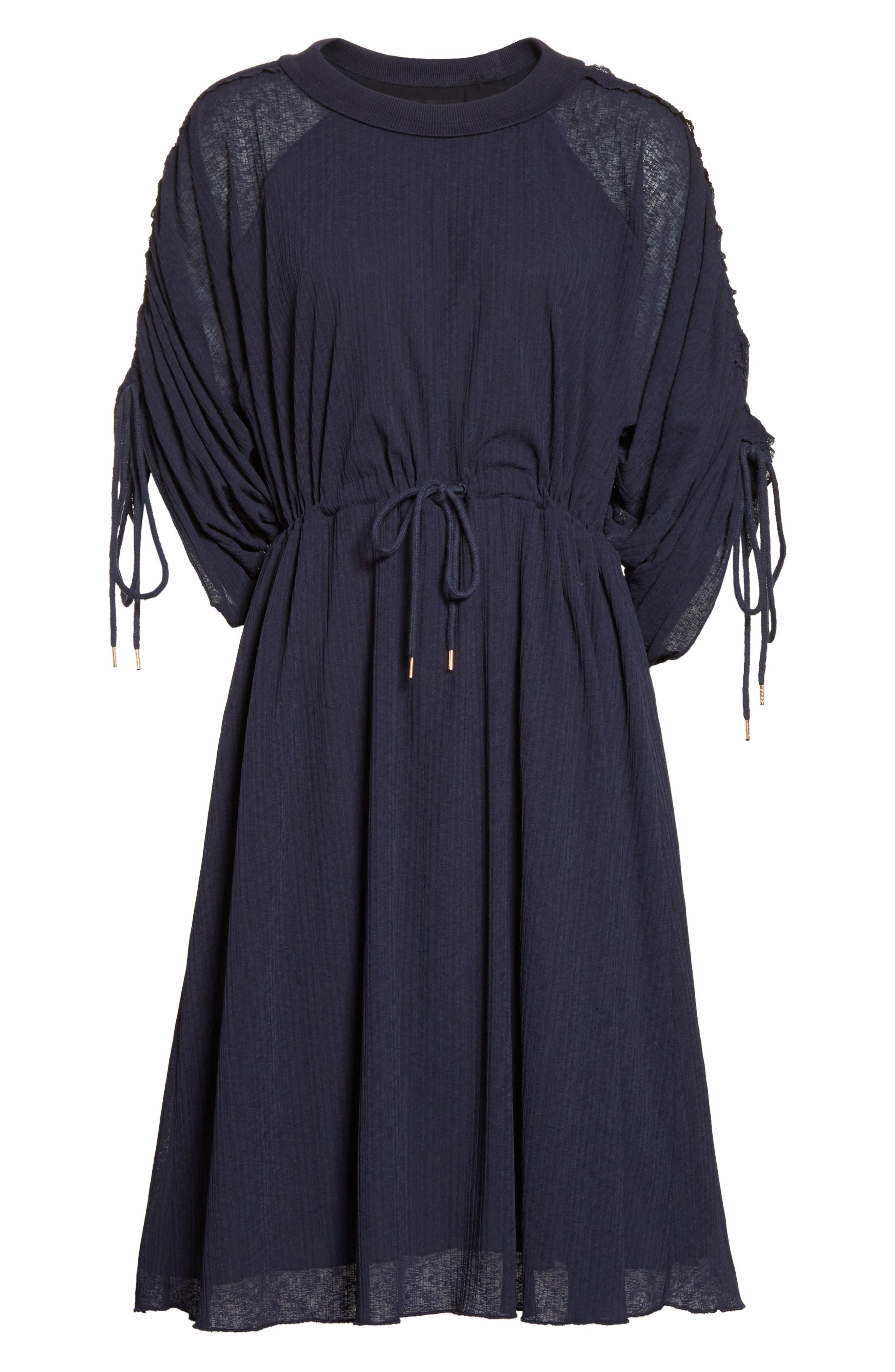 Knit Raglan Dress,                             Alternate thumbnail 6, color,                             Ultramarine