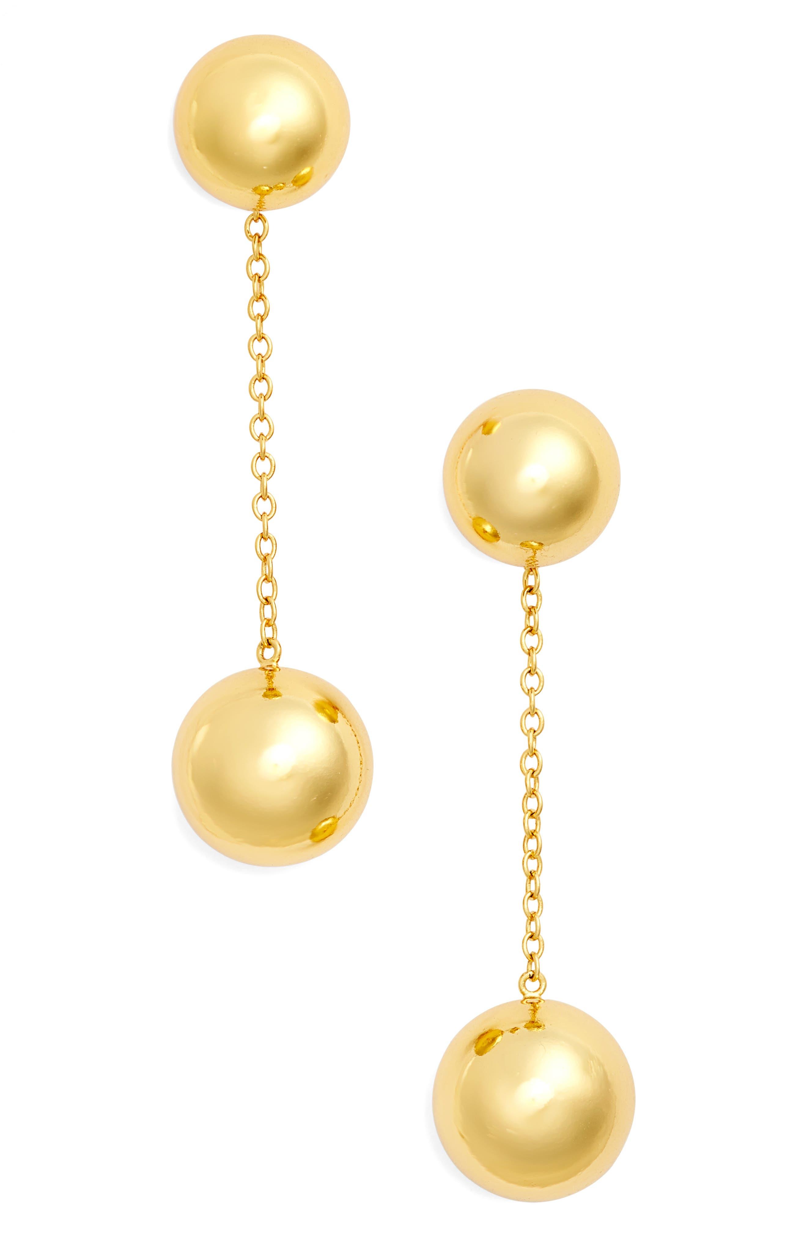 Newport Drop Earrings,                         Main,                         color, Gold