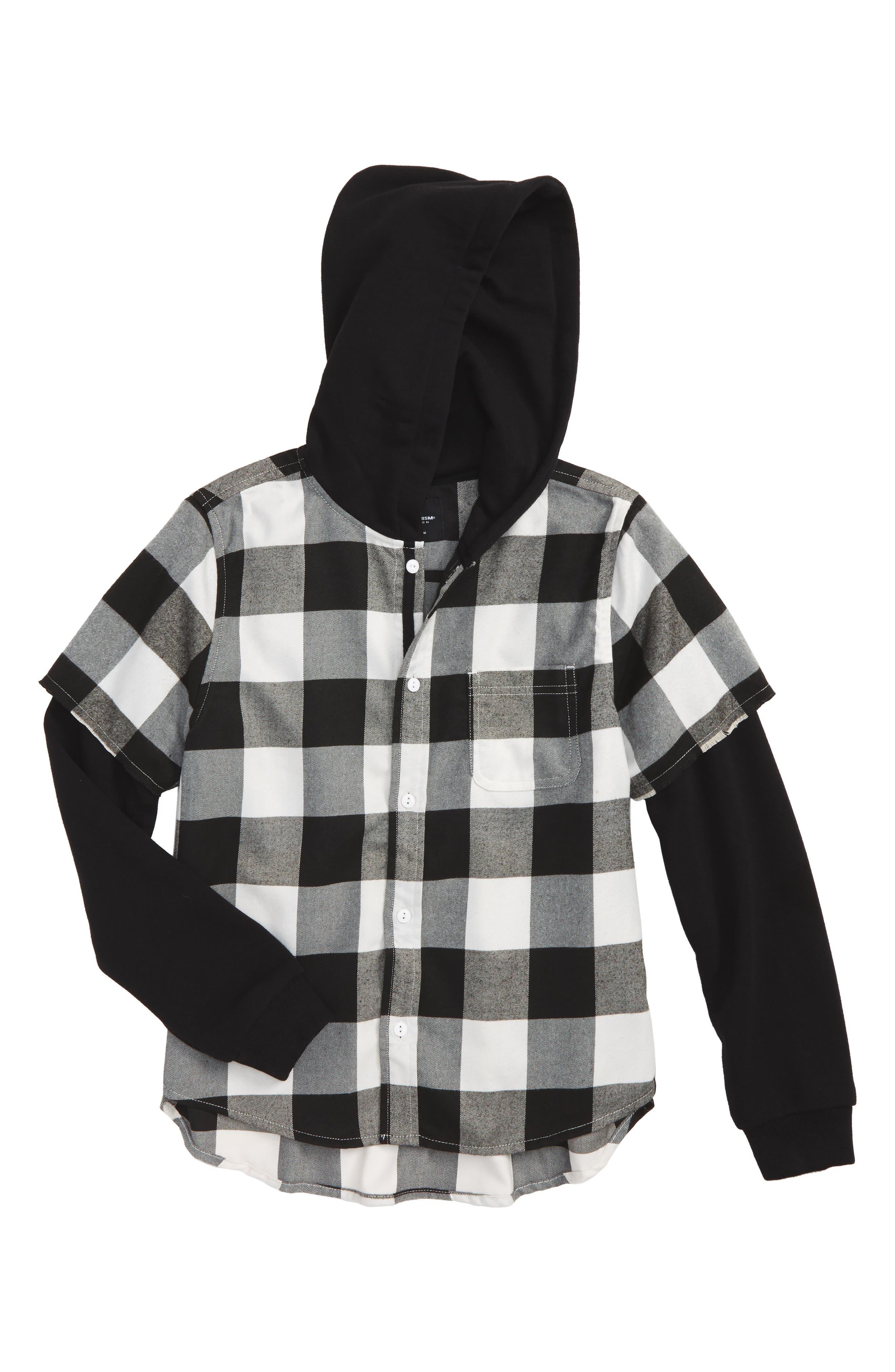 Superism Ryan Plaid Hooded Shirt (Big Boys)