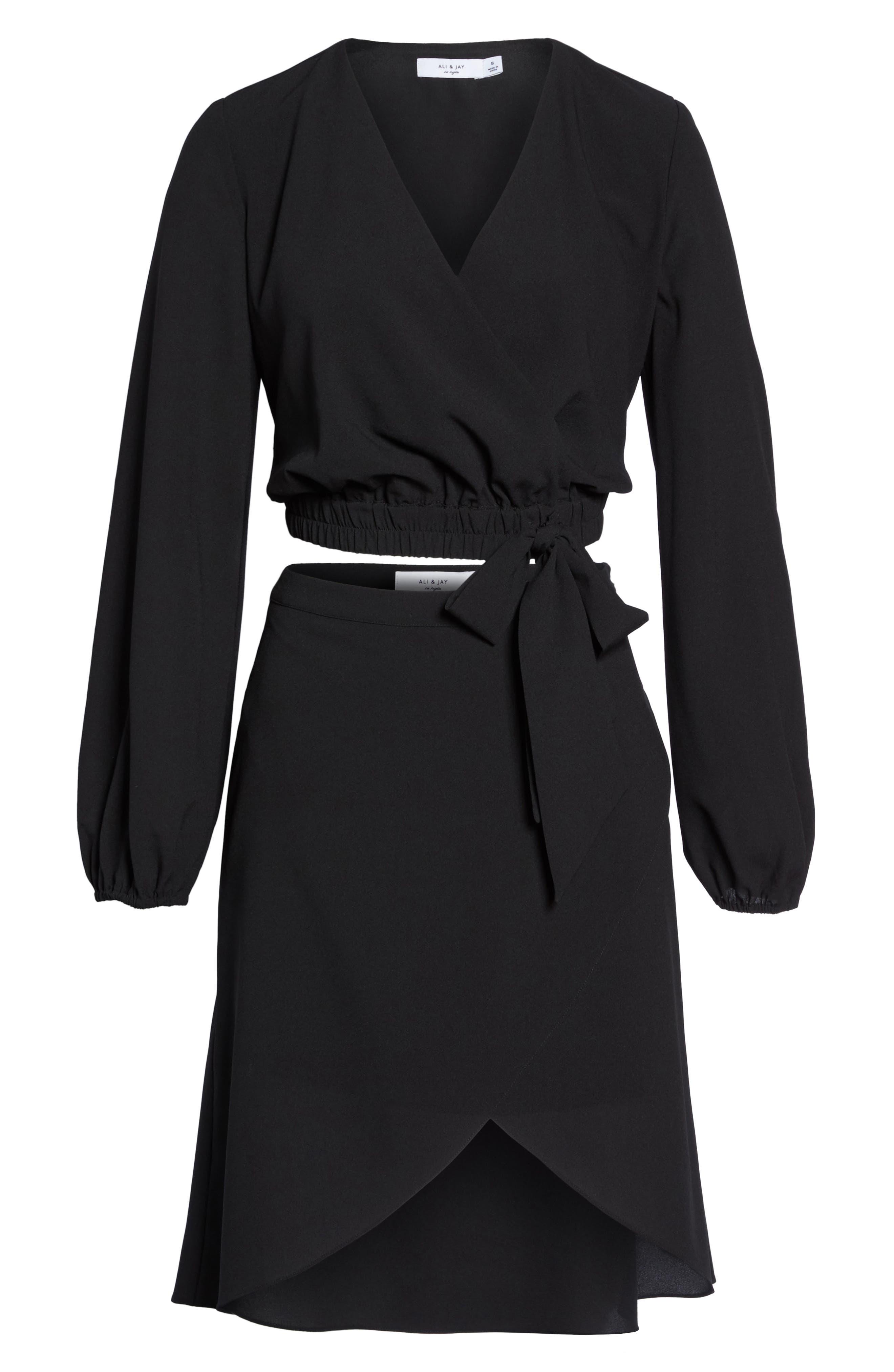 St. Tropez Two-Piece Dress,                             Alternate thumbnail 7, color,                             Black