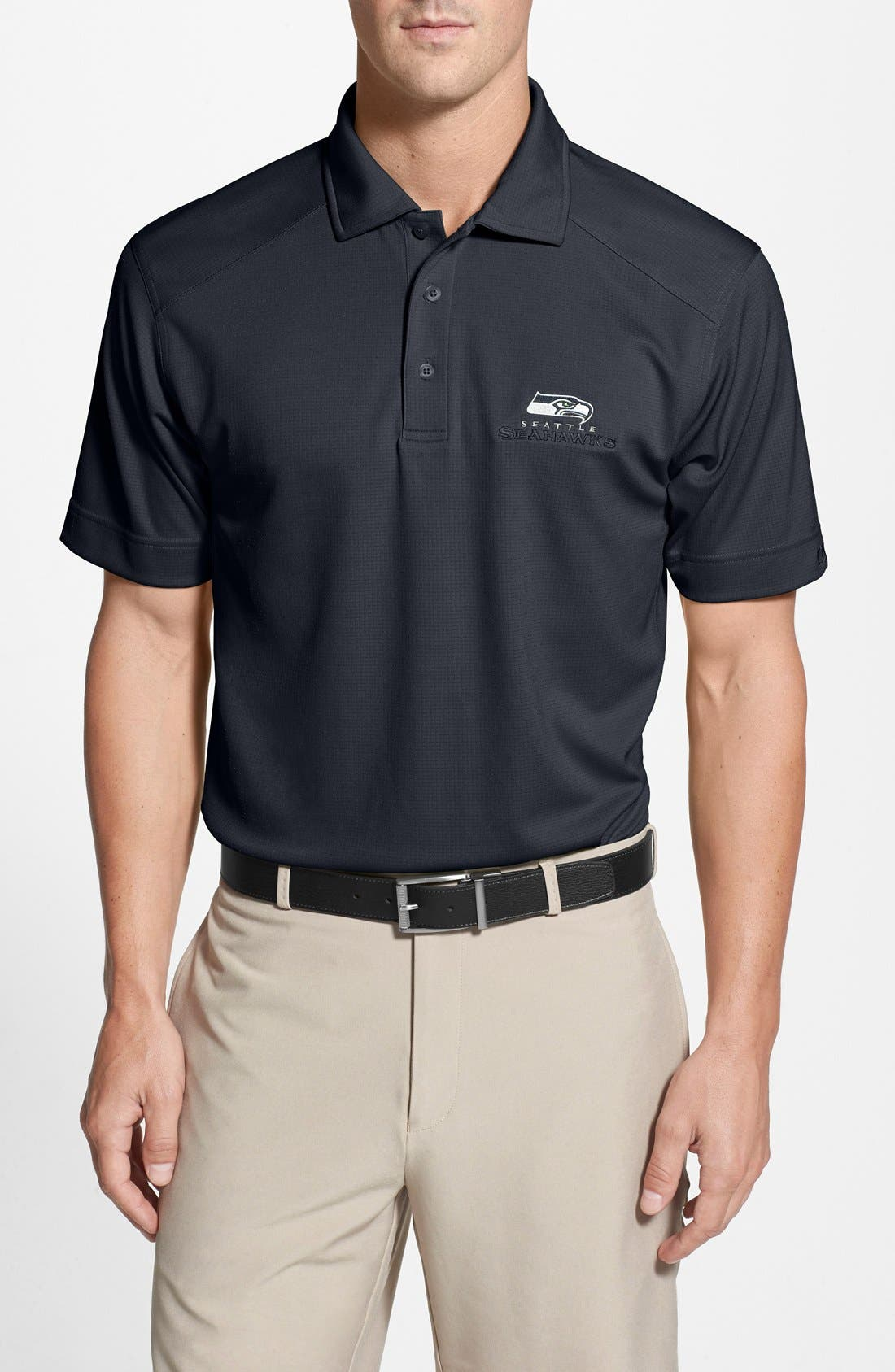Cutter & Buck 'Seattle Seahawks - Genre' DryTec Moisture Wicking Polo (Big & Tall)
