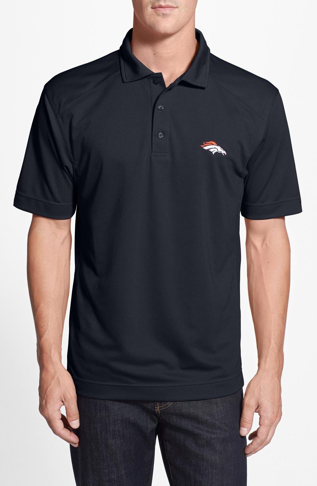 Cutter & Buck Denver Broncos - Genre DryTec Moisture Wicking Polo