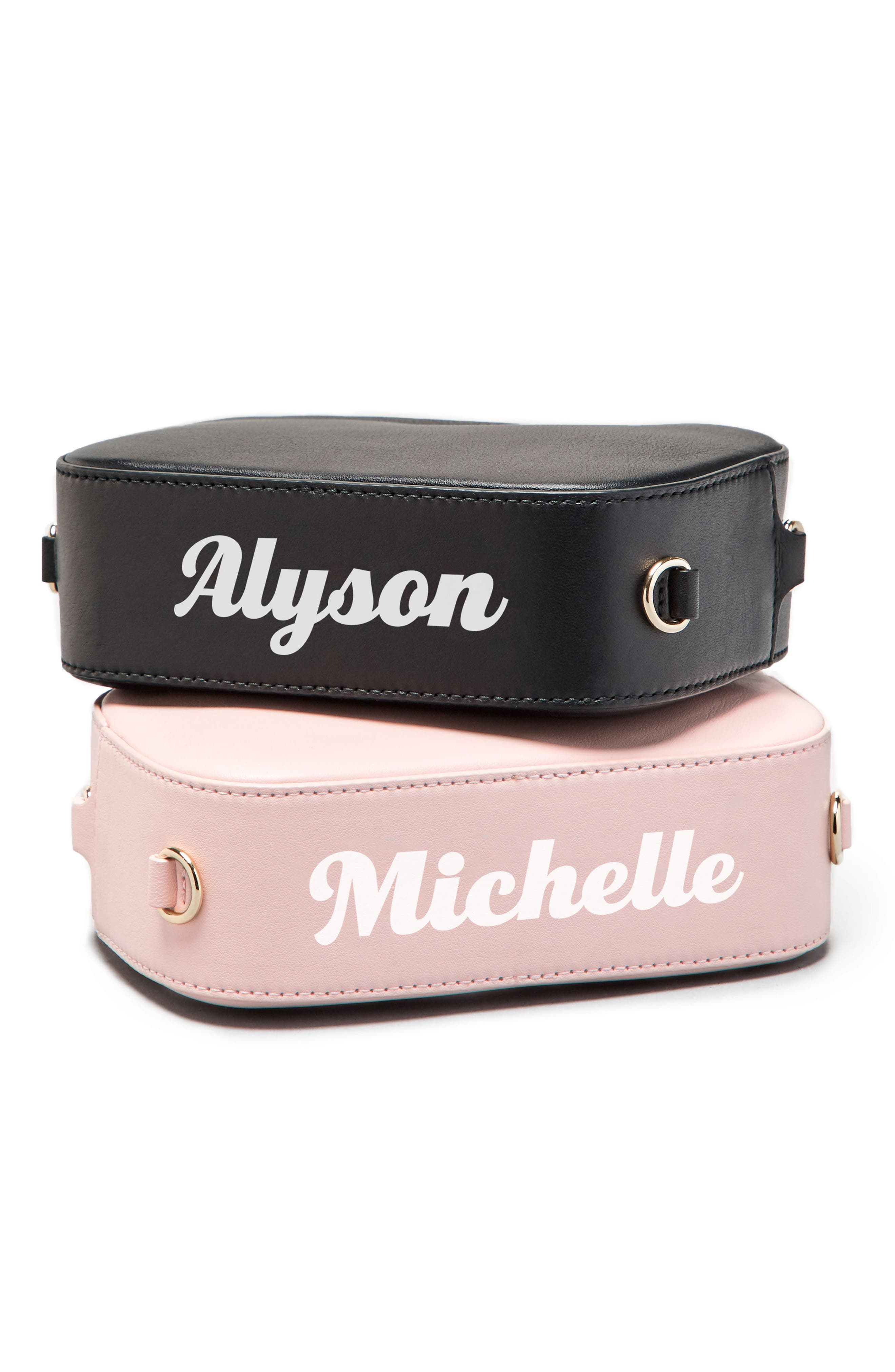 Personalized Leather Camera Bag,                             Alternate thumbnail 7, color,