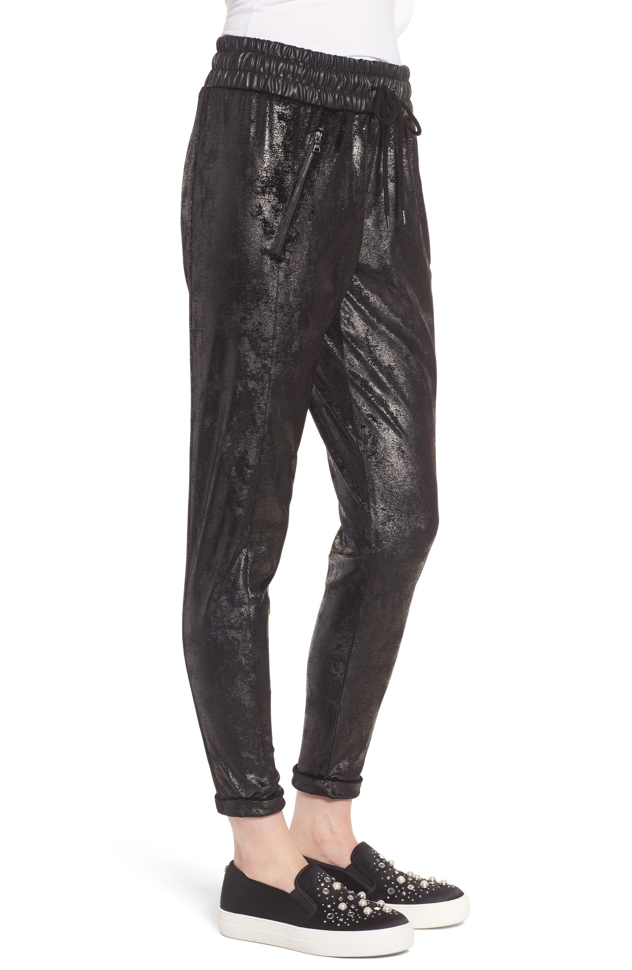 Randall Cuffed Sweatpants,                             Alternate thumbnail 3, color,                             Black