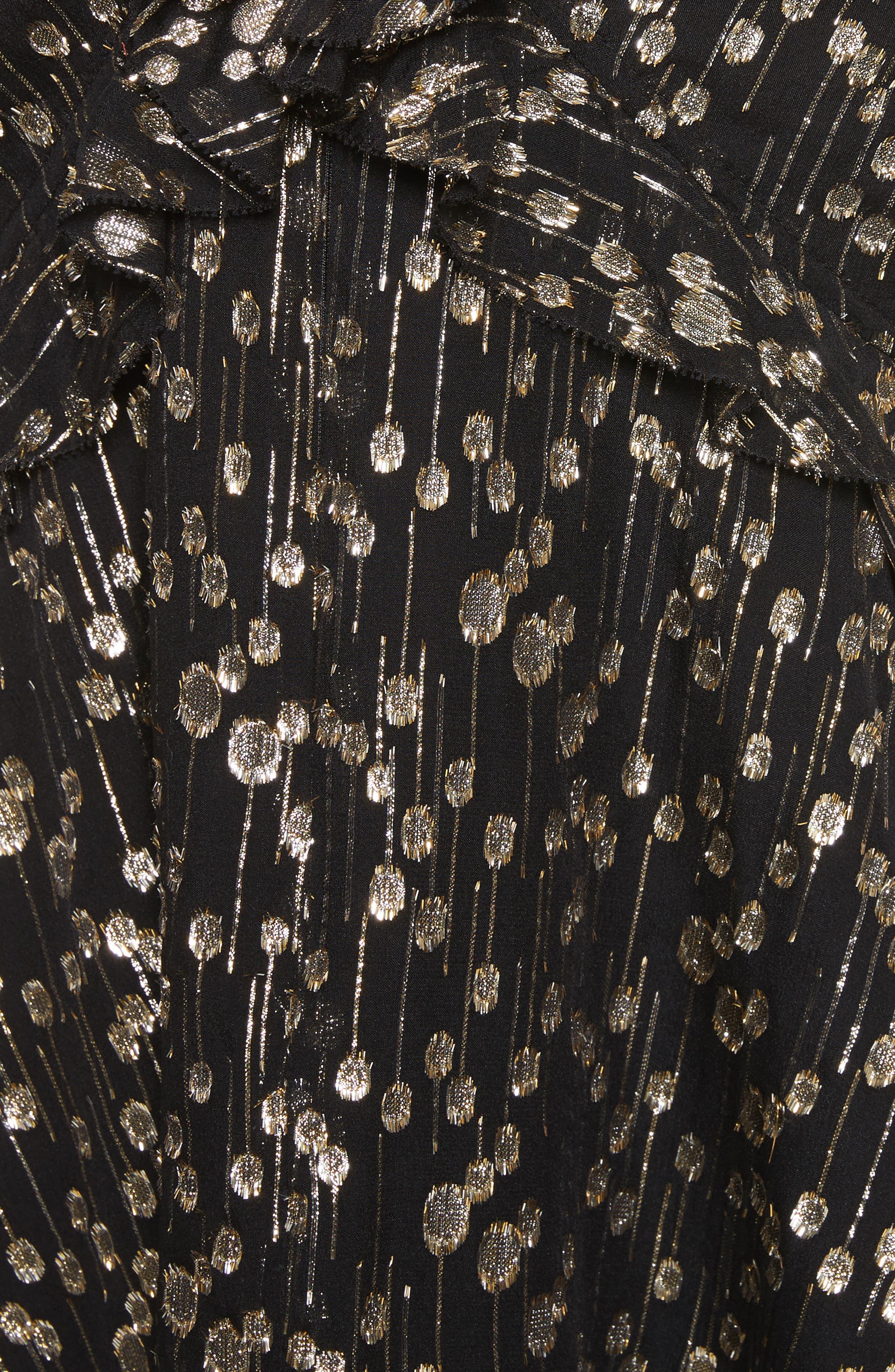 Alternate Image 5  - Derek Lam 10 Crosby Ruffled Metallic Dot Top