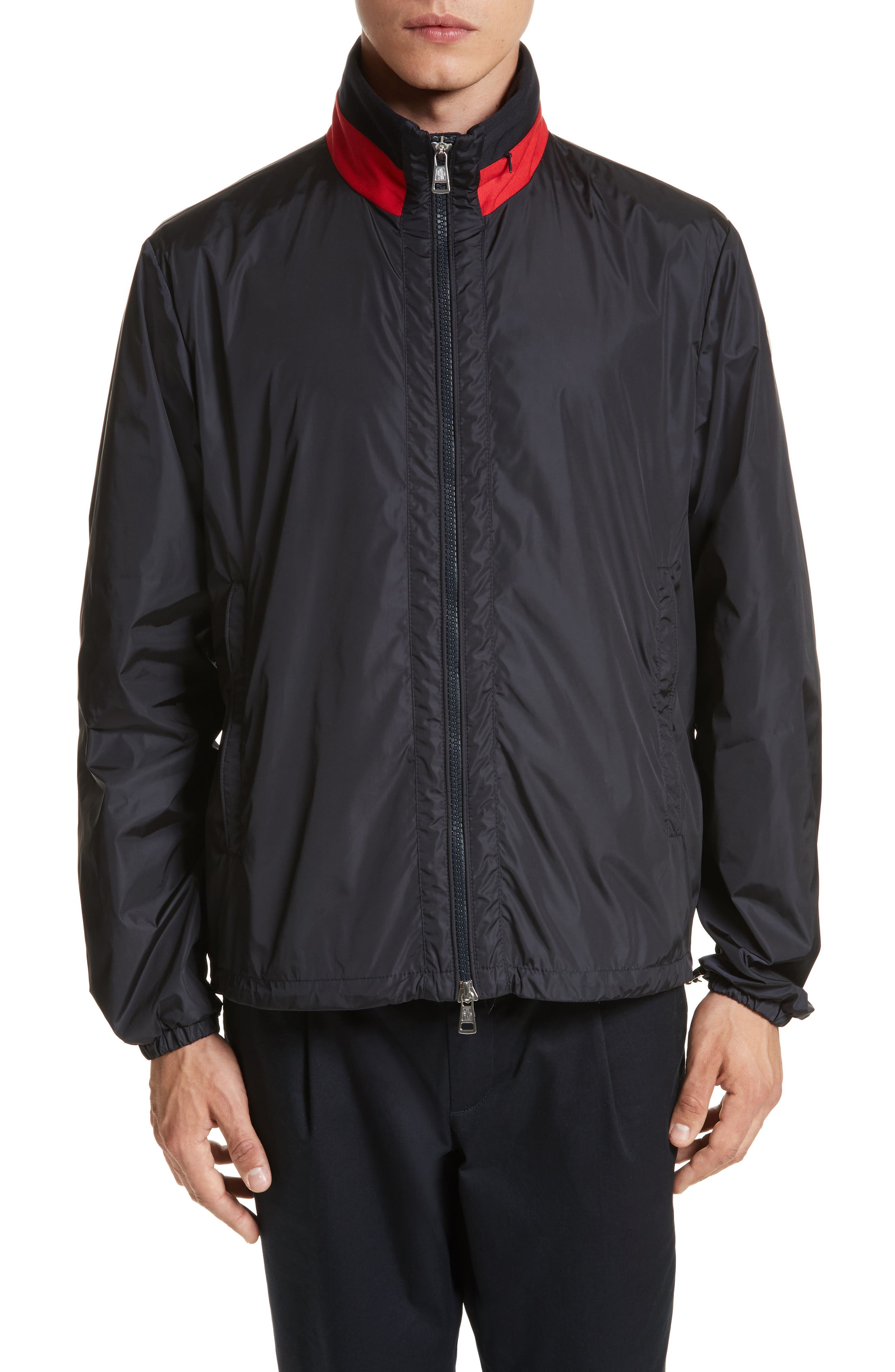 Goulier Nylon Jacket,                             Main thumbnail 1, color,                             Navy