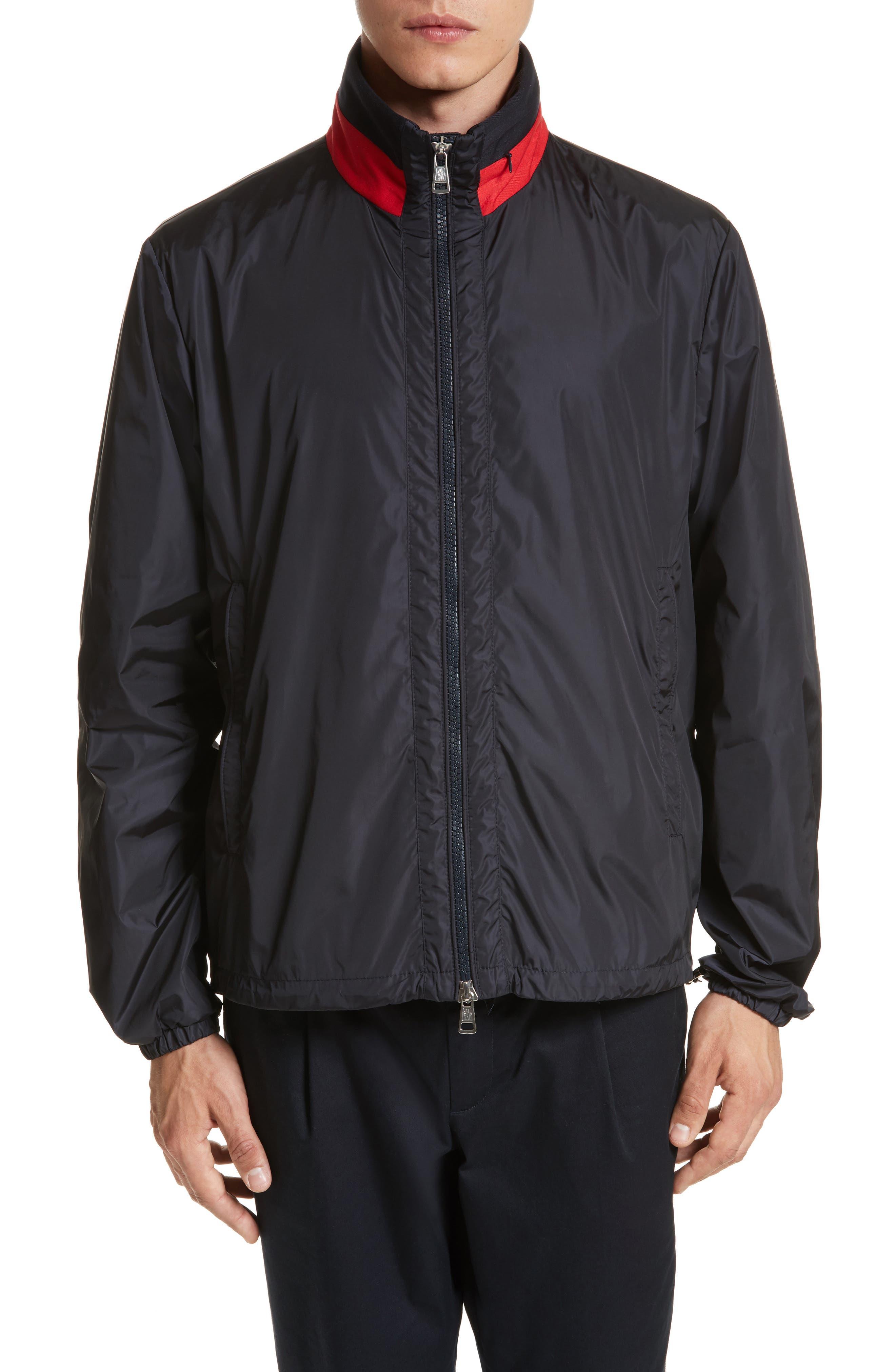Goulier Nylon Jacket,                         Main,                         color, Navy