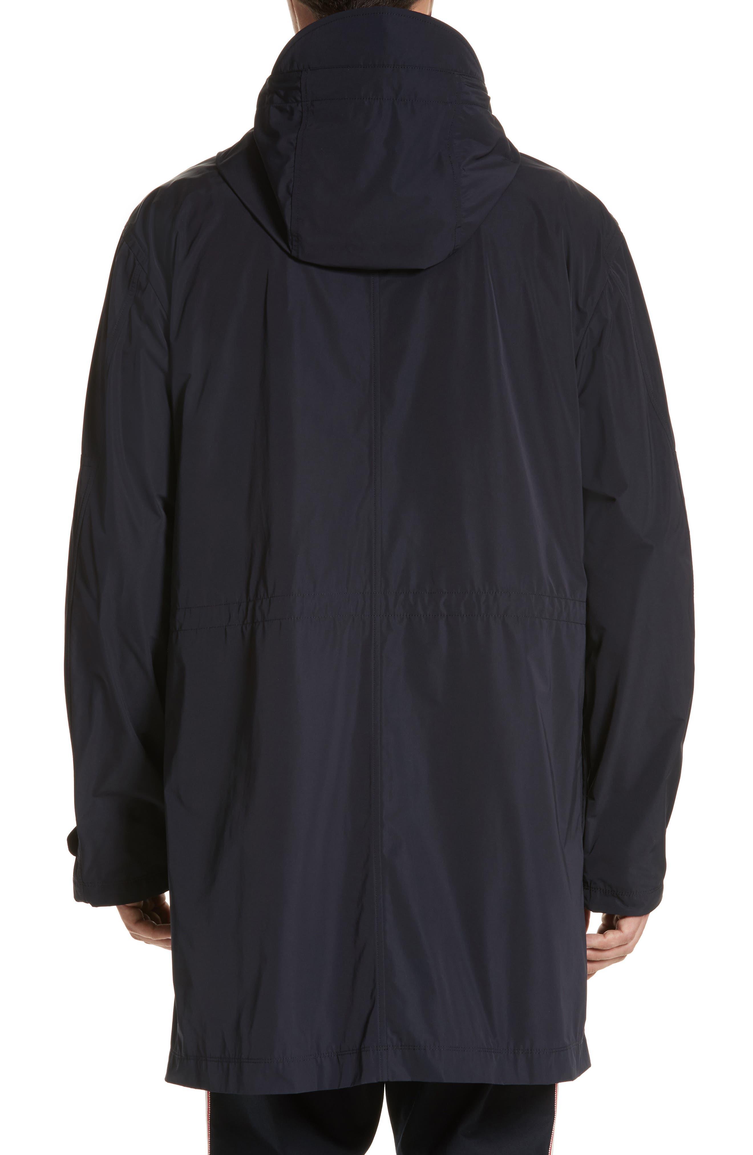 Guiers Long Raincoat,                             Alternate thumbnail 2, color,                             Navy
