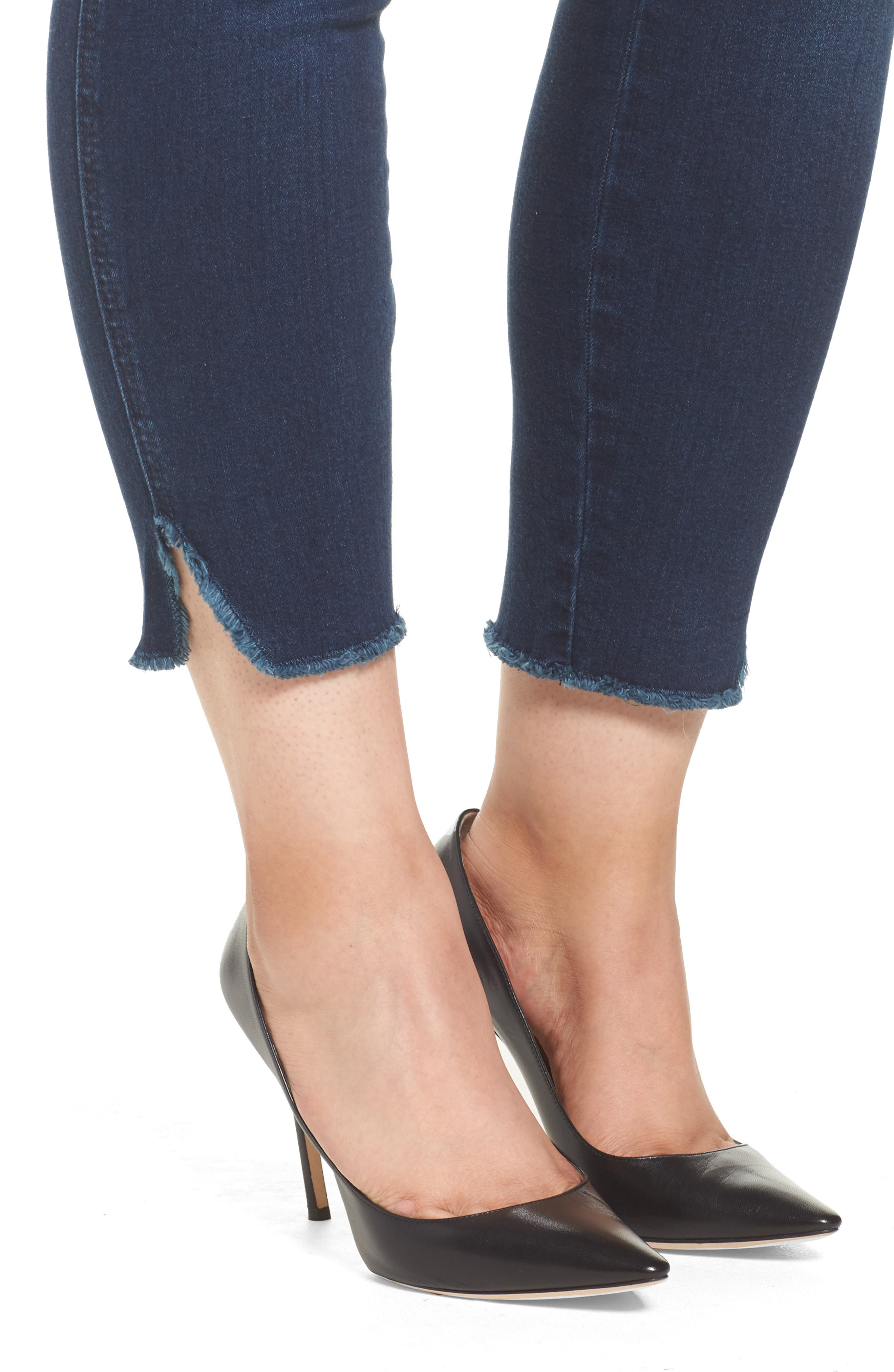 Alternate Image 4  - Seven7 High Waist Ankle Skinny Jeans (Plus Size)