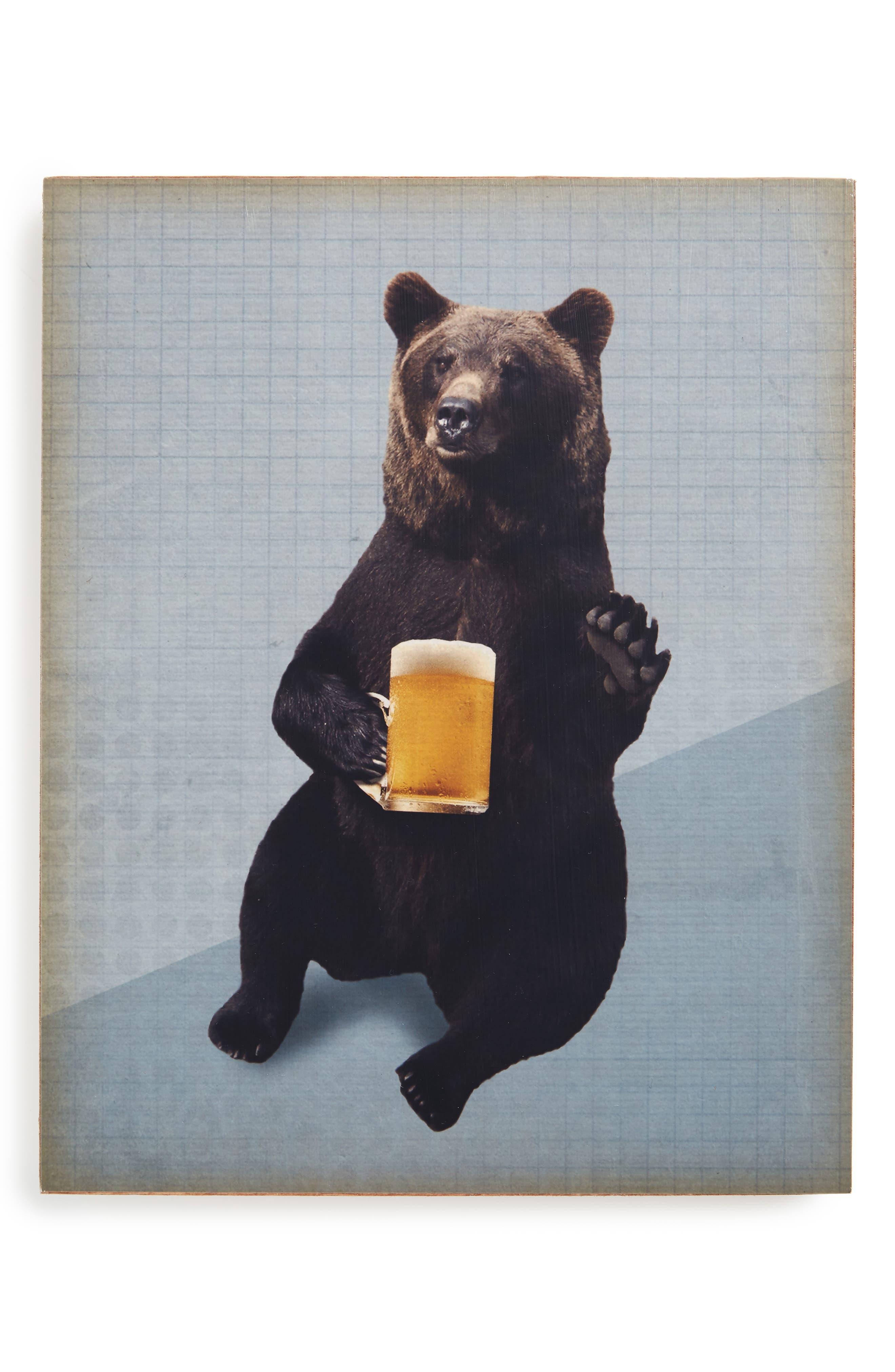 Lucius Designs Bears Love Beer Wall Art