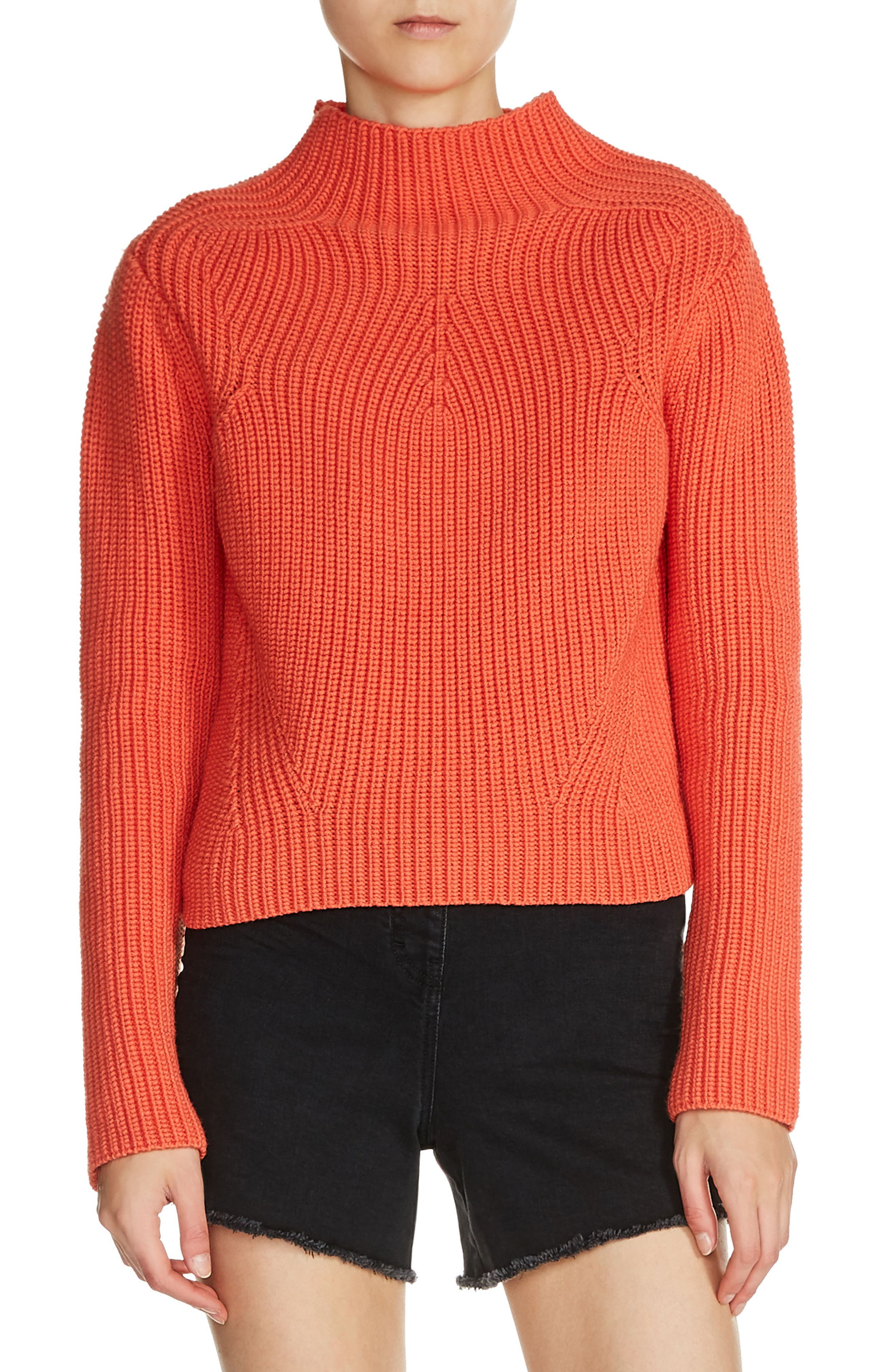 maje Funnel Neck Sweater