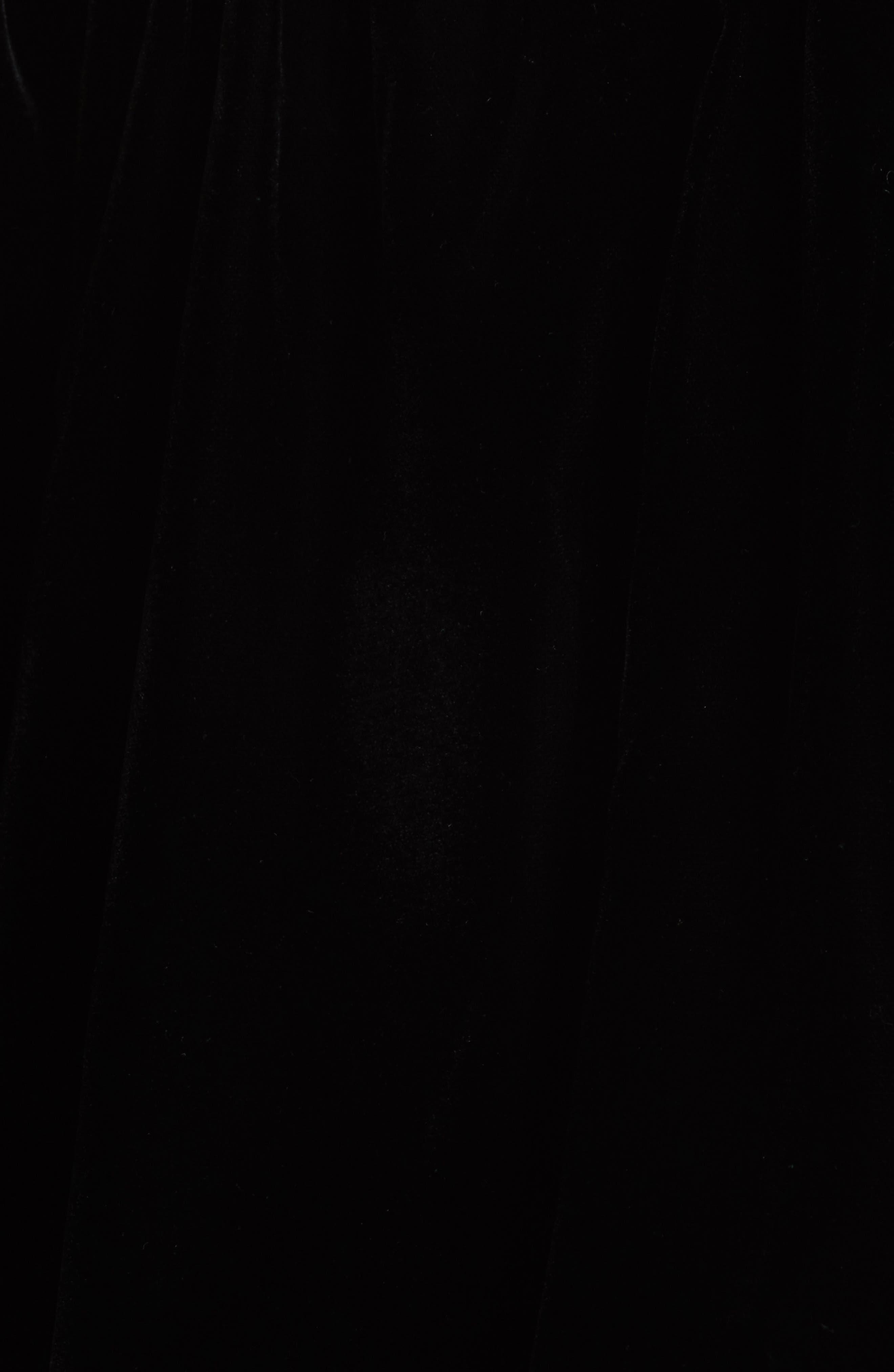 Simmy Velvet Off the Shoulder Top,                             Alternate thumbnail 5, color,                             Black