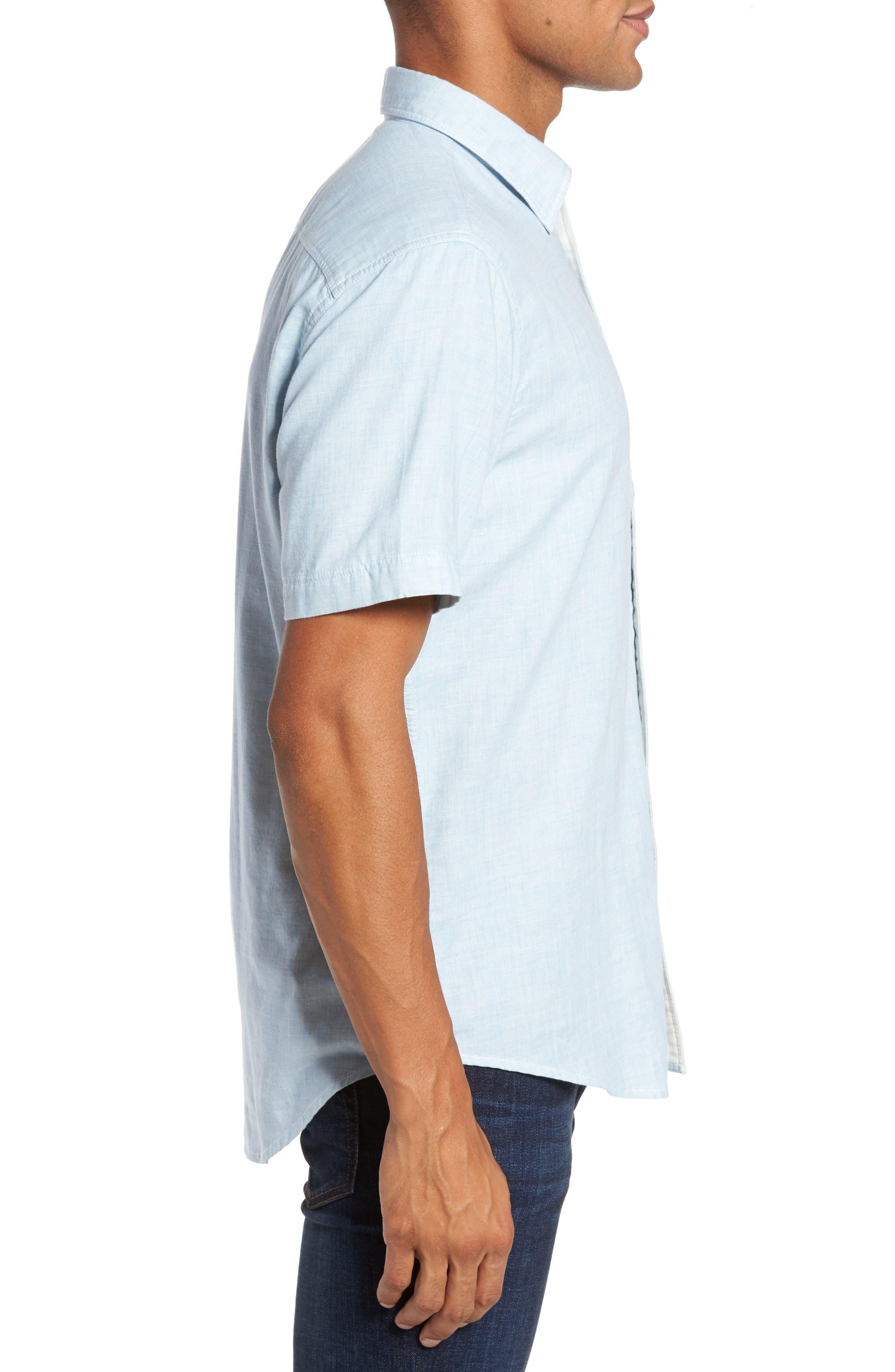 Encinitas Regular Fit Sport Shirt,                             Alternate thumbnail 3, color,                             Sky