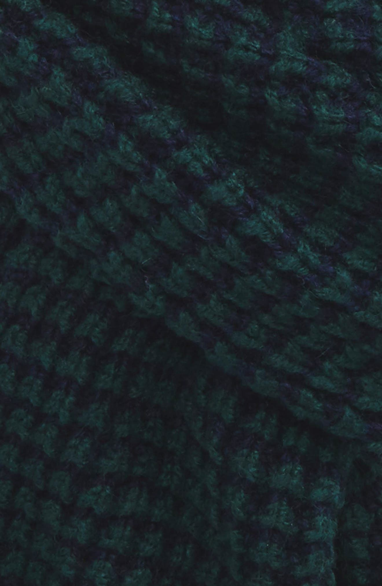 Walnut Wool Blend Scarf,                             Alternate thumbnail 3, color,                             Teal-Blue