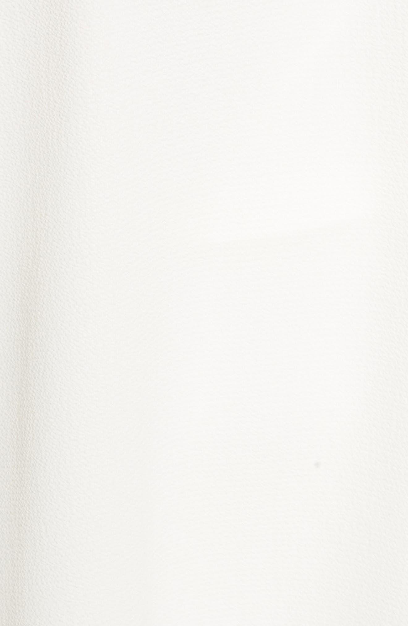 Double V-Neck Blouse,                             Alternate thumbnail 5, color,                             Antique White