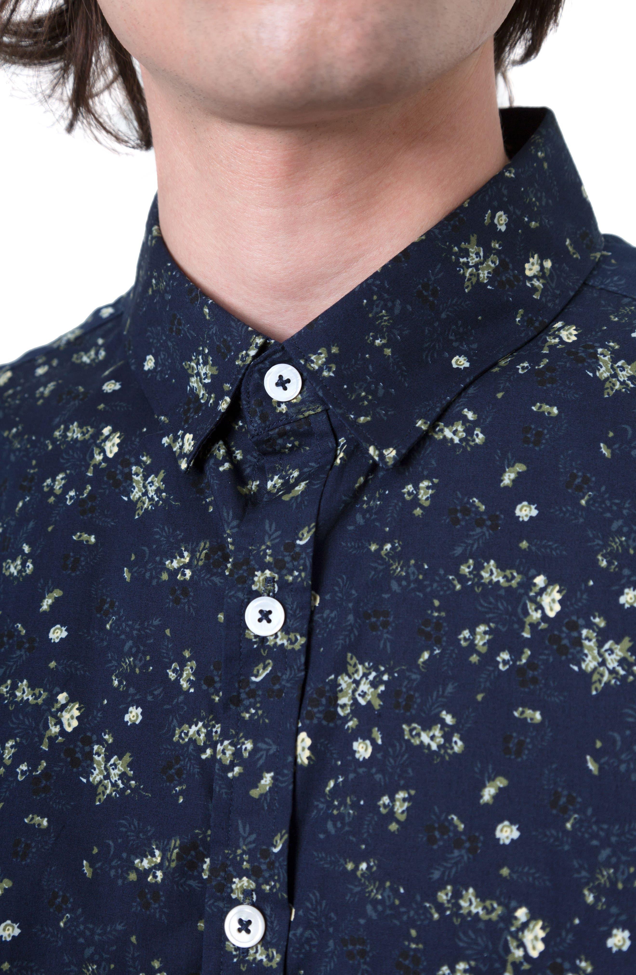 Alternate Image 4  - 7 Diamonds Rising Water Print Woven Shirt