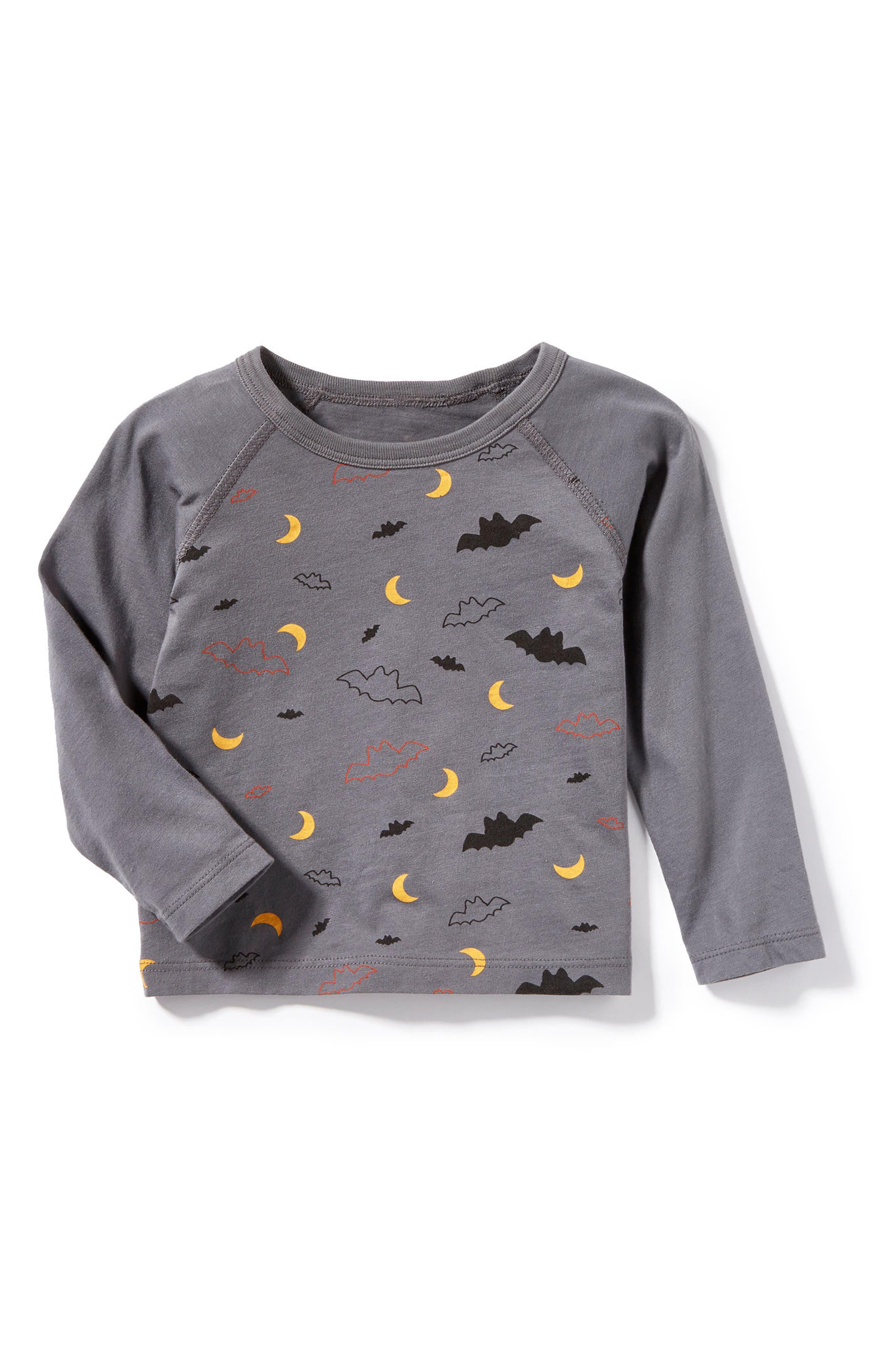 Peek Bat Graphic T-Shirt,                             Main thumbnail 1, color,                             Grey
